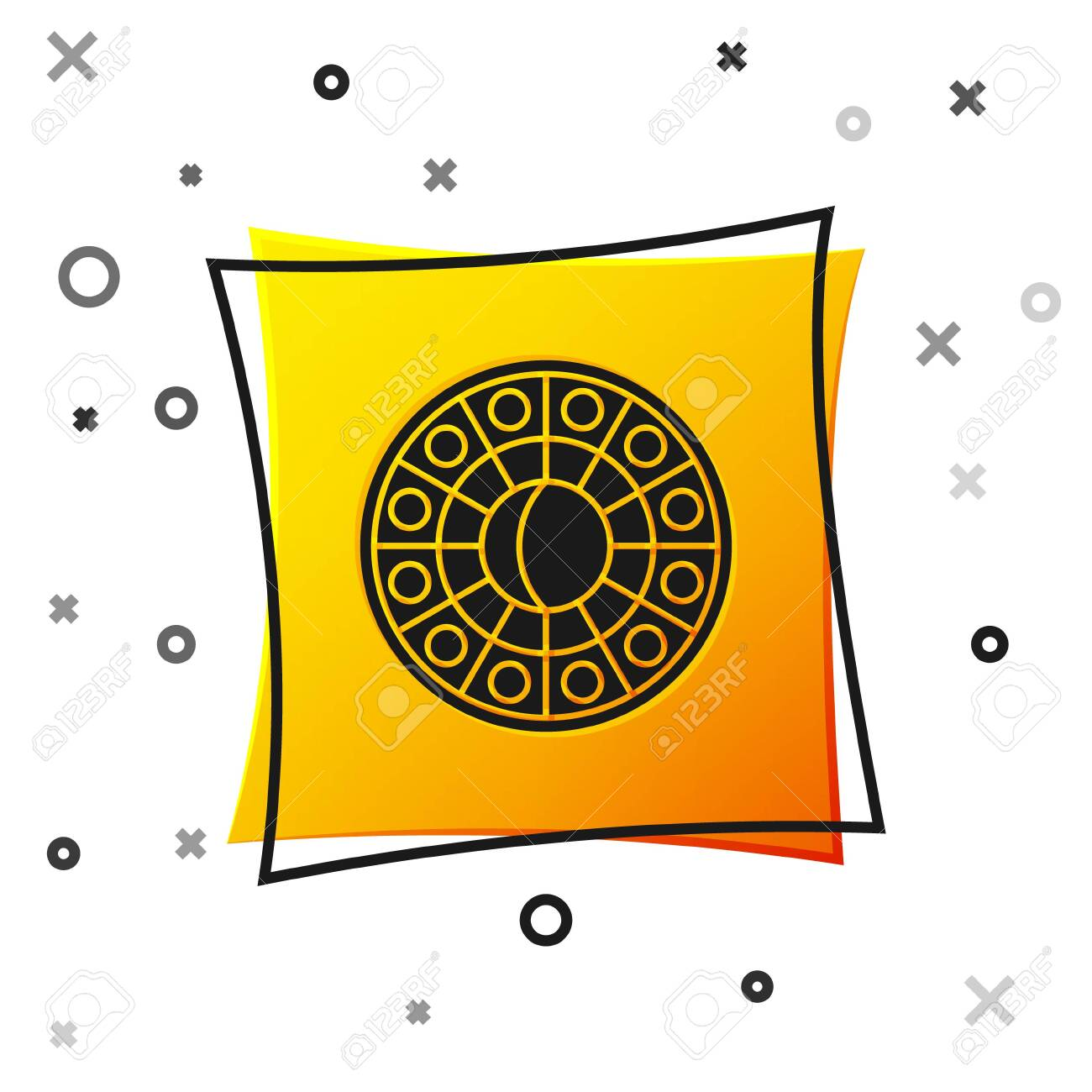 Black Astrology Horoscope Circle With Zodiac Icon Isolated On Royalty Free Cliparts Vectors And Stock Illustration Image 138498632