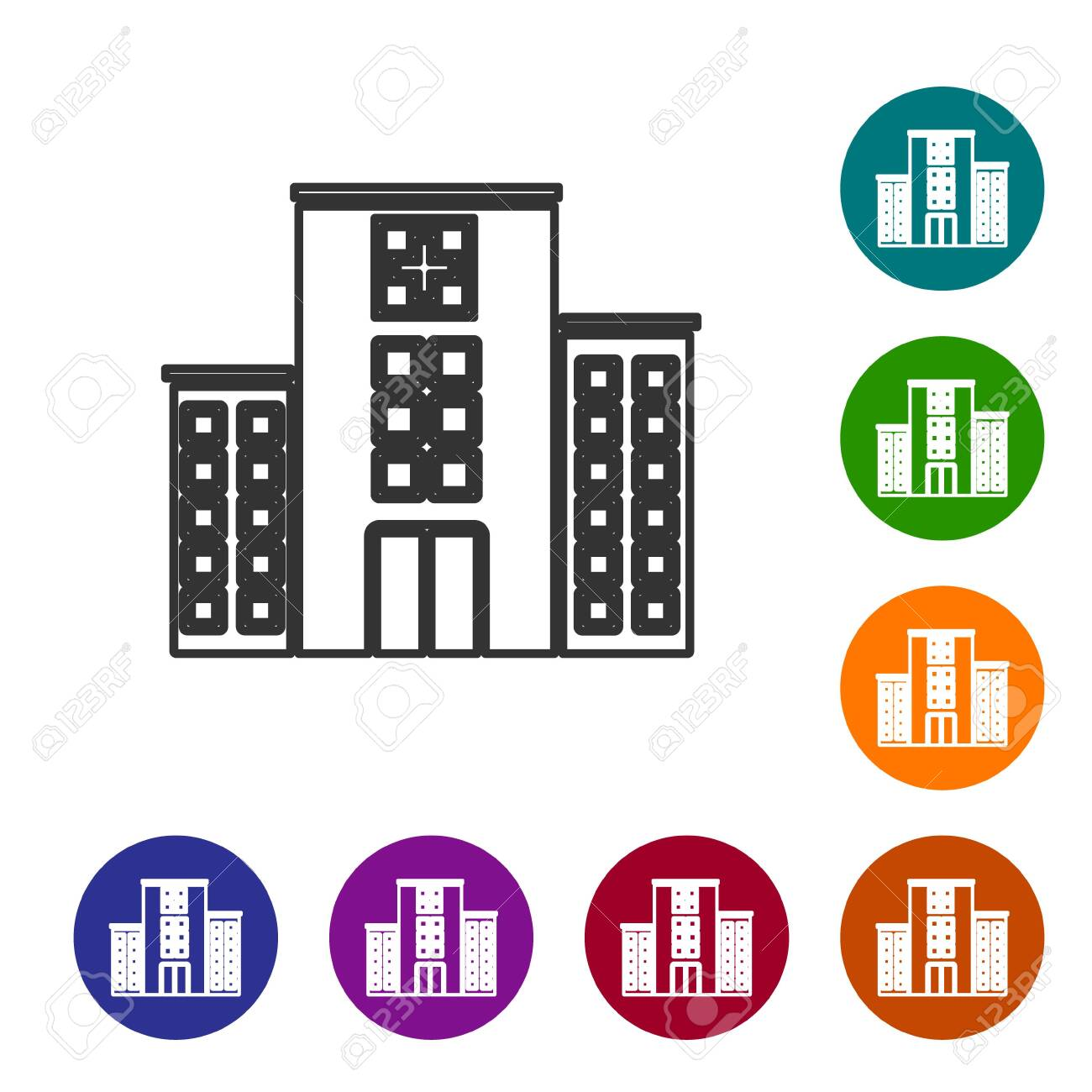 Hospital Building Icon Royalty Free Cliparts, Vectors, And Stock  Illustration. Image 45757981.