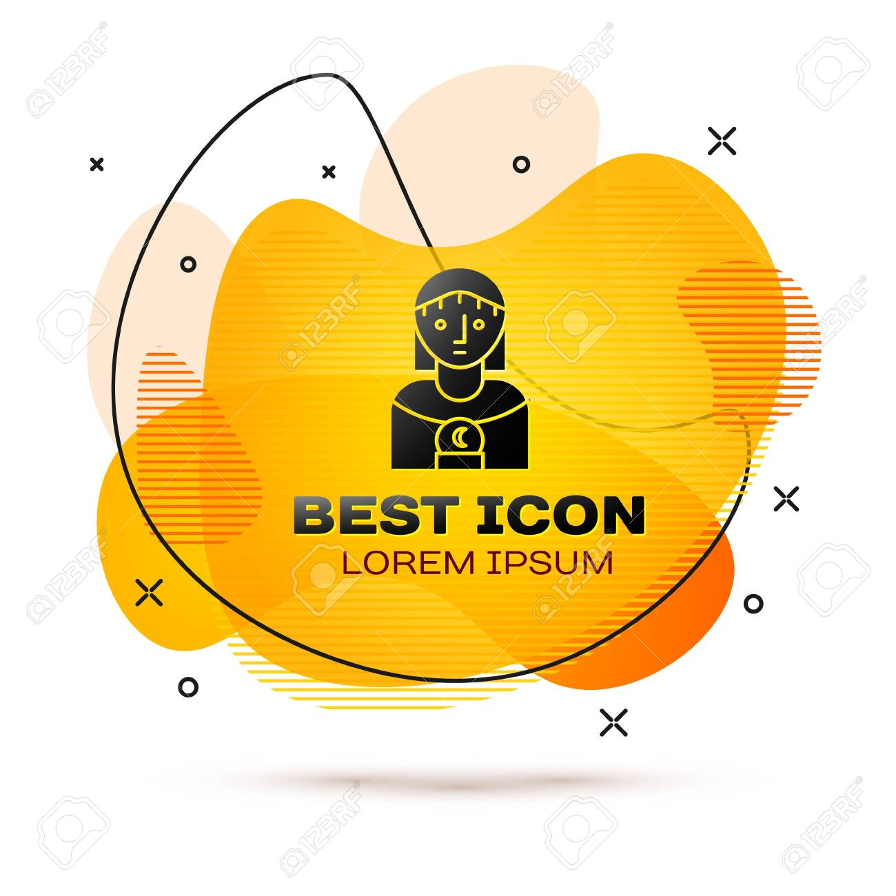 Black Astrology Woman Icon Isolated On White Background Abstract Royalty Free Cliparts Vectors And Stock Illustration Image 138572838