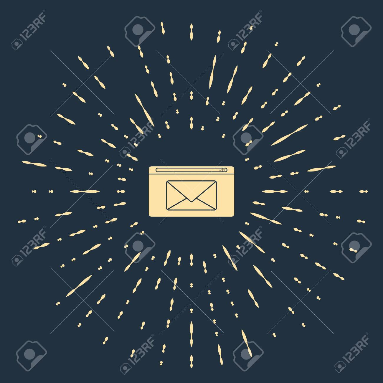 Beige Mail And E Mail Icon Isolated On Blue Background Envelope Royalty Free Cliparts Vectors And Stock Illustration Image 139063783