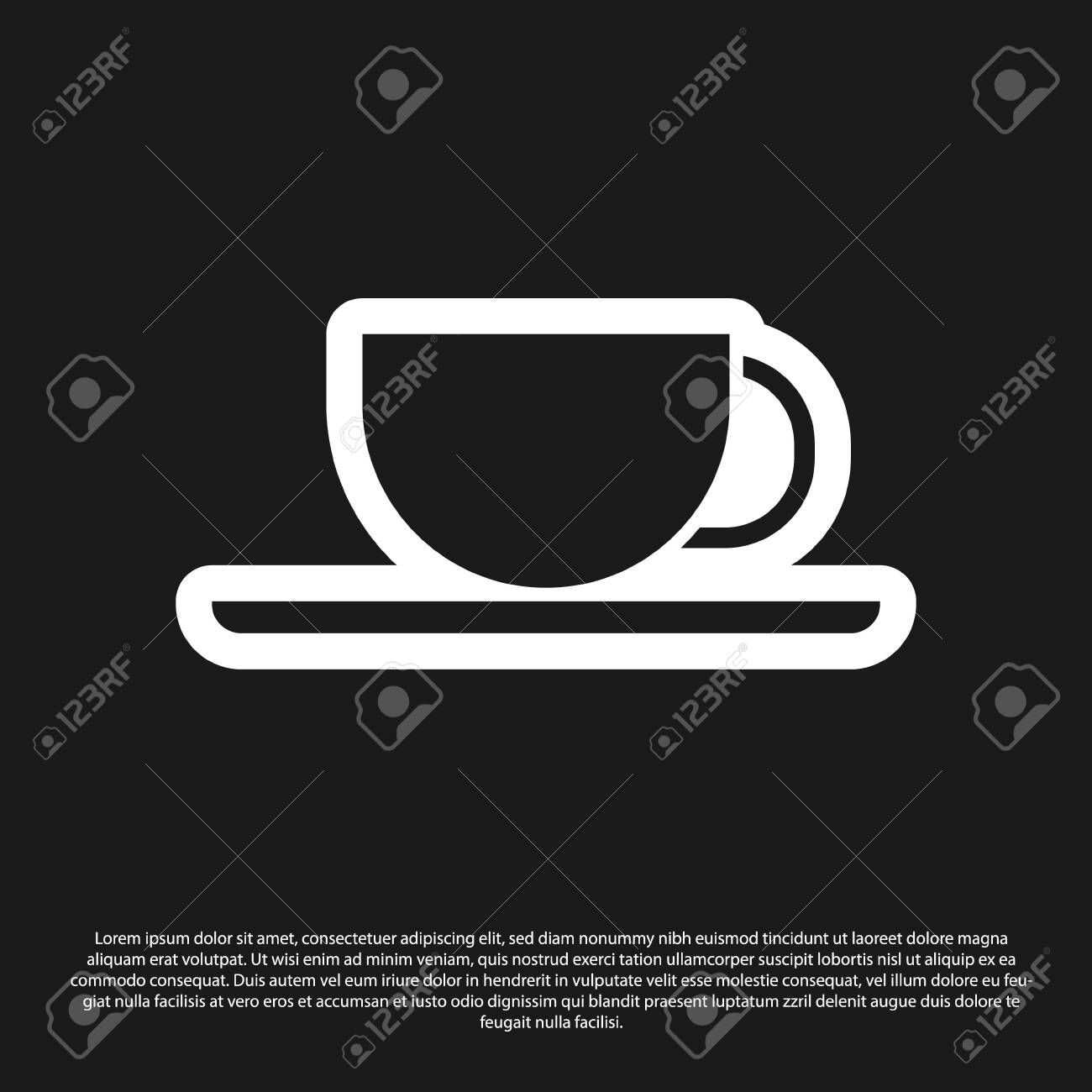 black coffee cup icon isolated on black background tea cup royalty free cliparts vectors and stock illustration image 140254597 123rf com