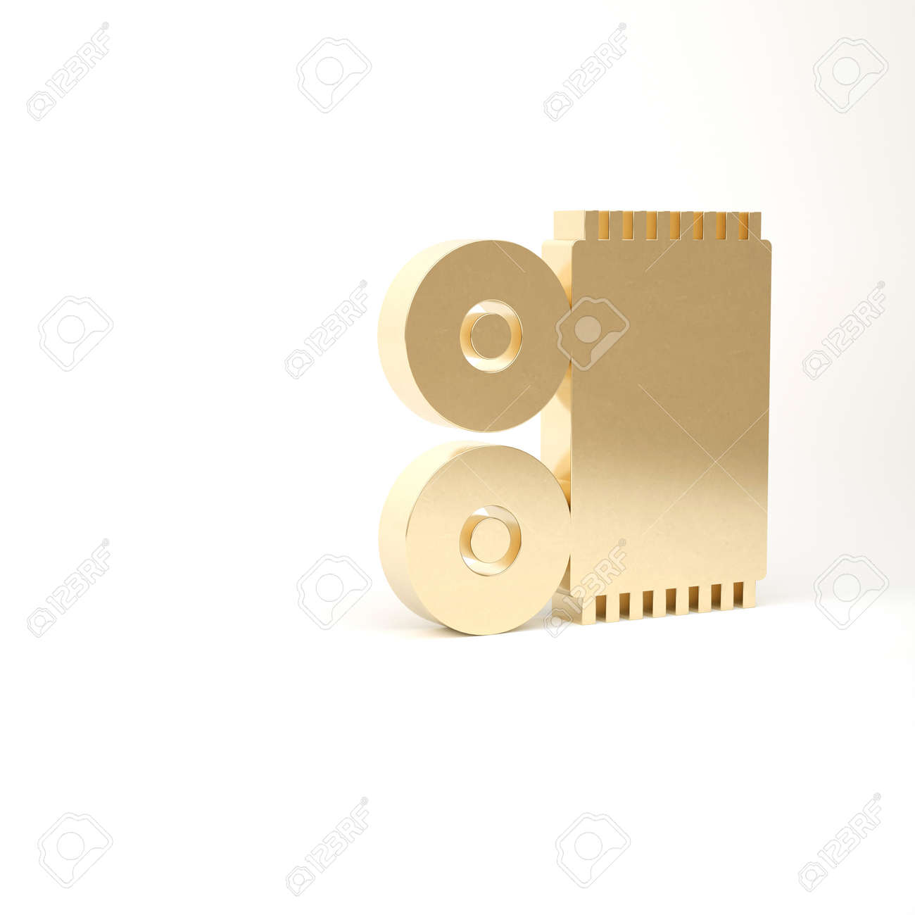 Gold Traditional carpet culture ramadan arabic islamic celebration icon isolated on white background. 3d illustration 3D render - 169797742