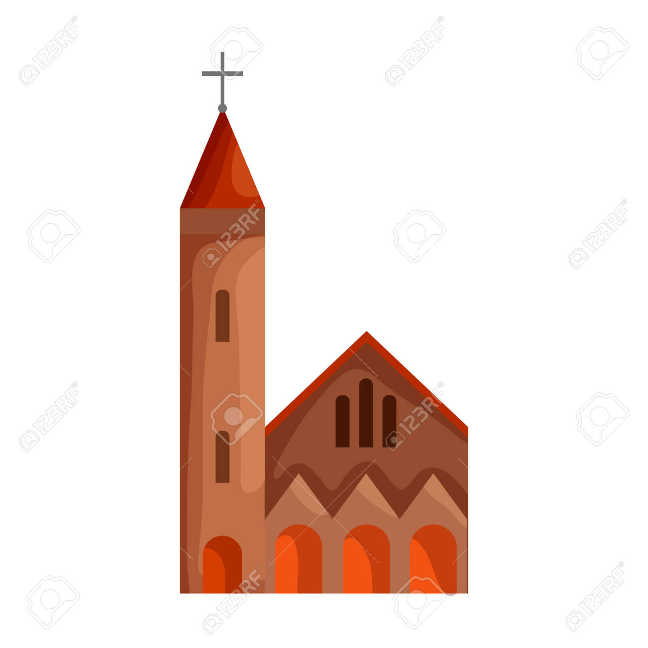 Church vector icon.Cartoon vector icon isolated on white background church. - 167200521