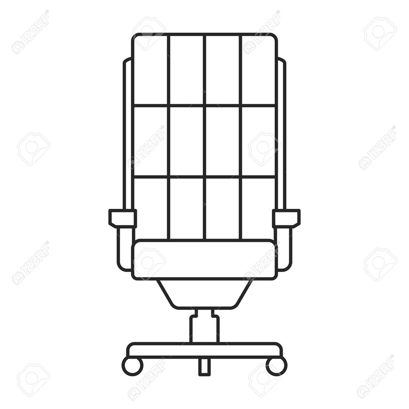 Chair office vector outline icon. Vector illustration armchair on white background. Isolated outline illustration icon of chair office. - 171813193