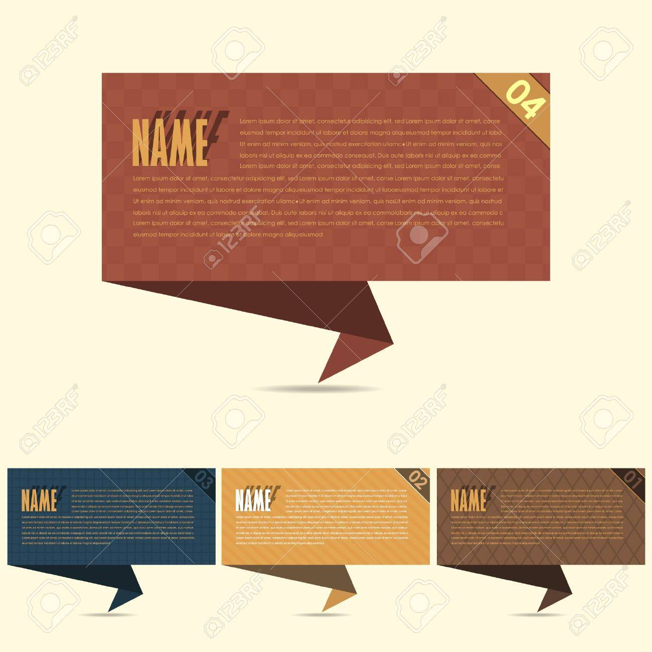 Vector Background Number Options Banner   Card Stock Vector - 16968566