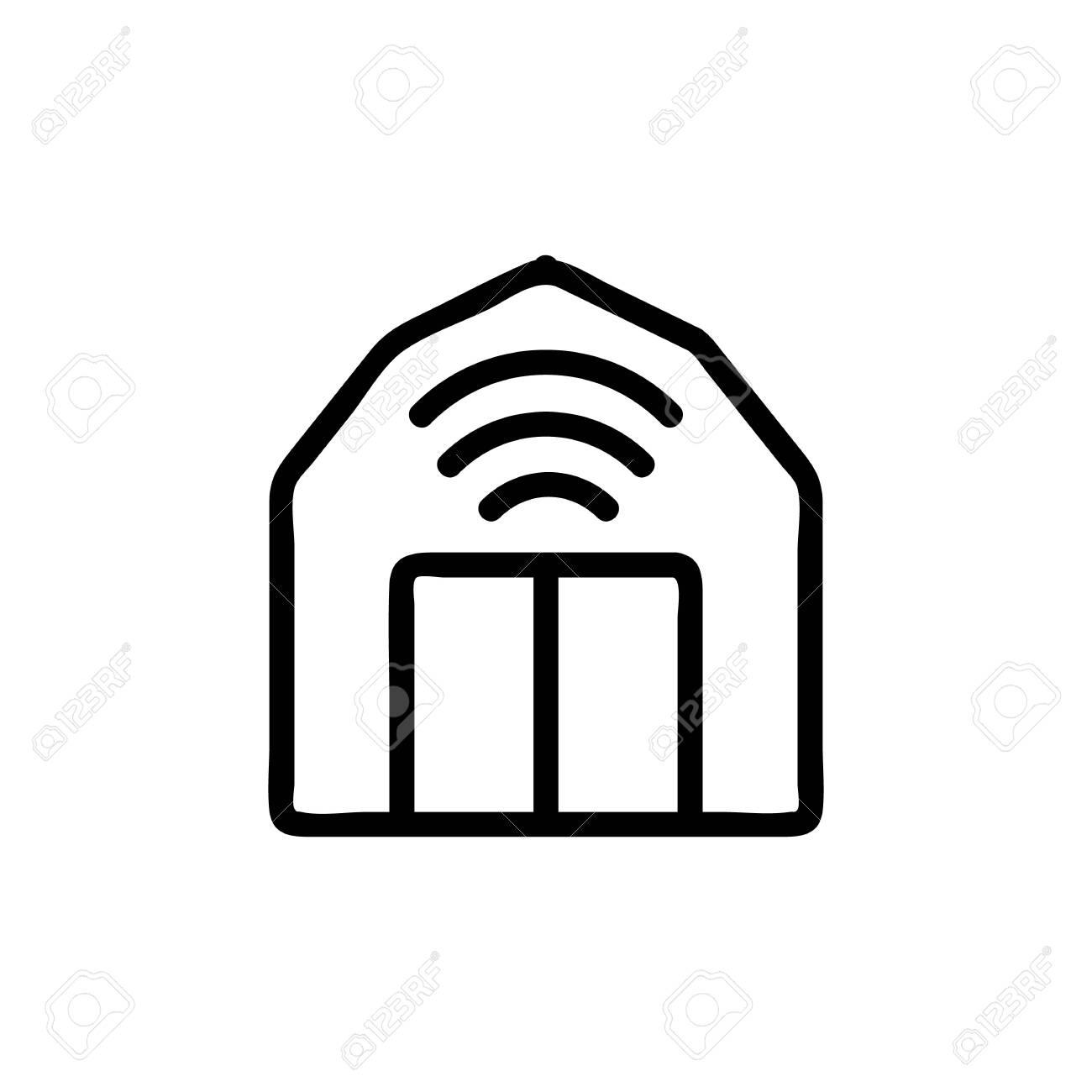 Smart farm icon vector. A thin line sign. Isolated contour symbol illustration - 136138408