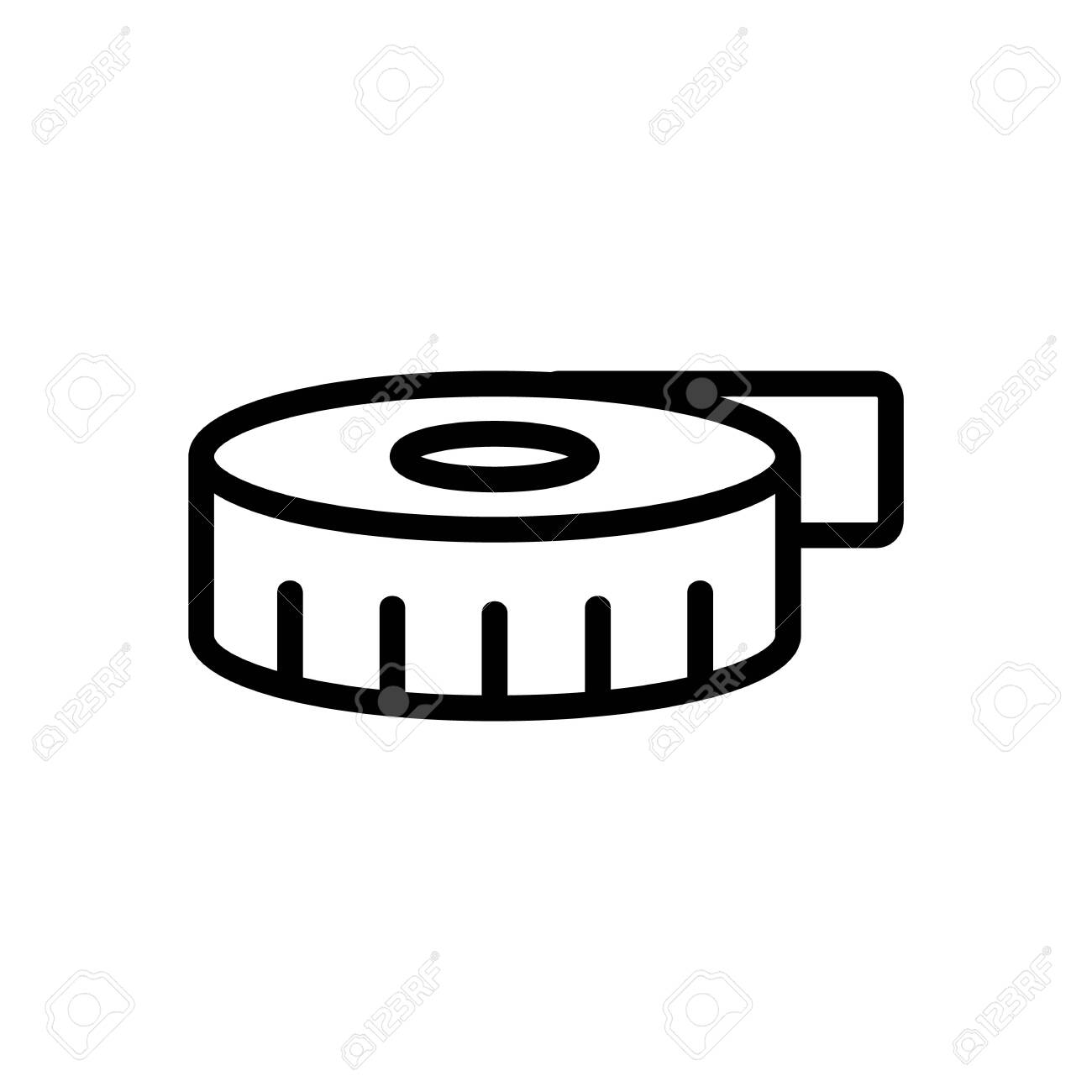 Tape measuring icon vector. Thin line sign. Isolated contour symbol illustration - 141639476