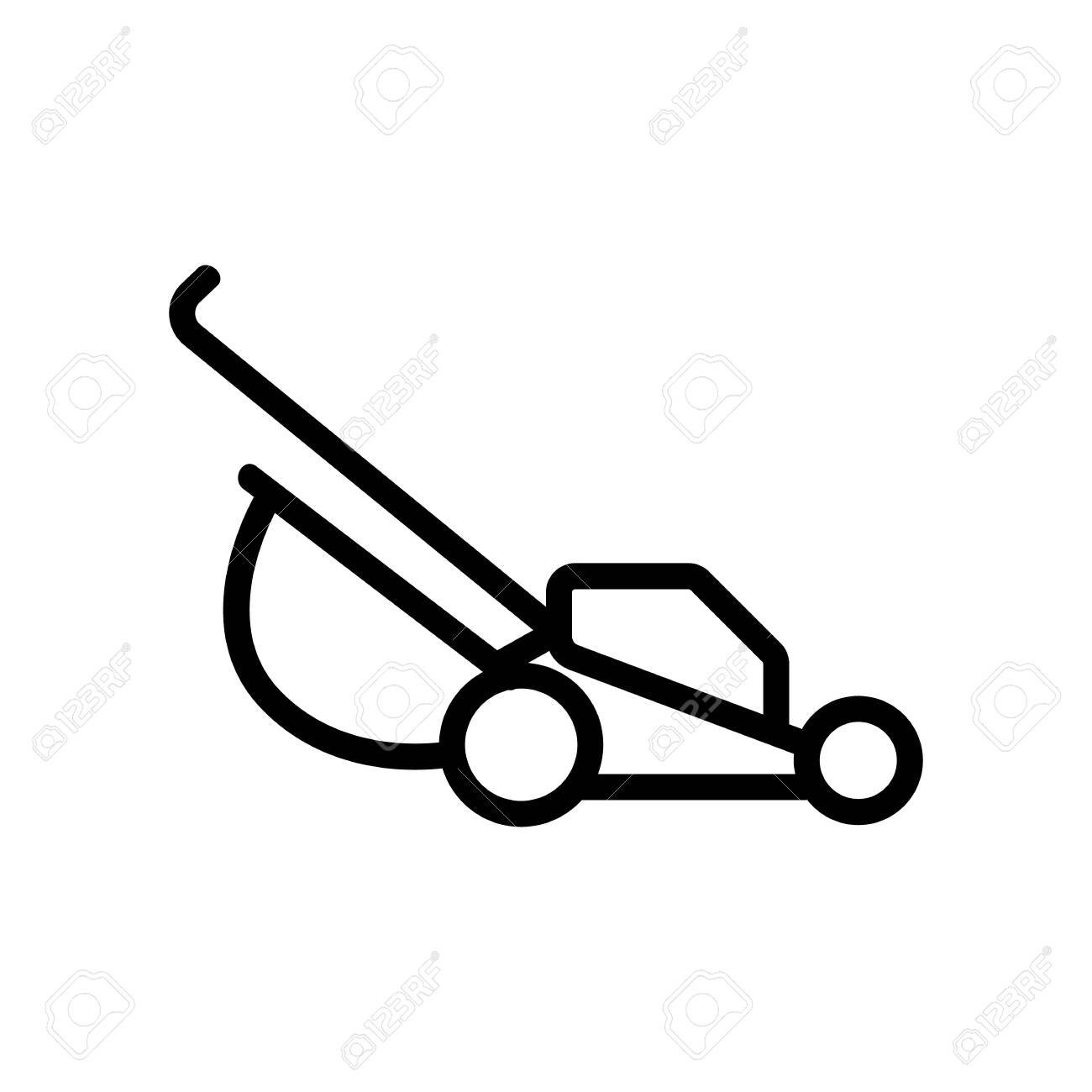 Manual Lawn Mower Icon Vector Manual Lawn Mower Sign Isolated Contour Symbol Illustration Royalty Free Cliparts Vectors And Stock Illustration Image 146706757