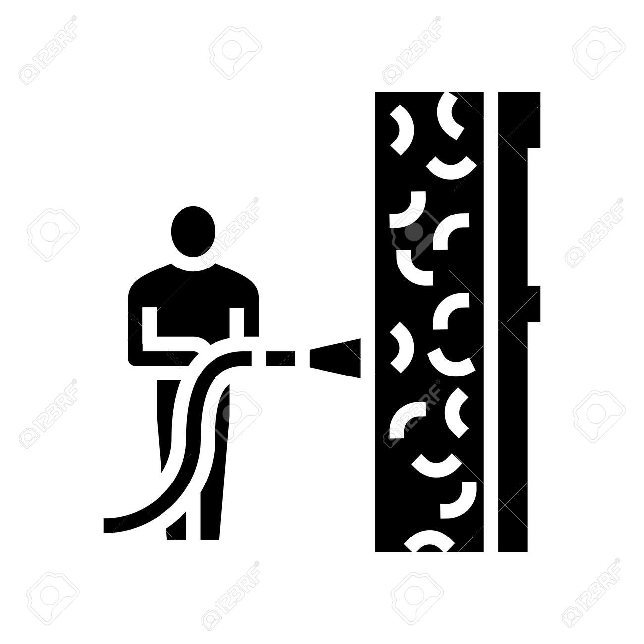 ecowool insulation glyph icon vector. ecowool insulation sign. isolated contour symbol black illustration - 163441034