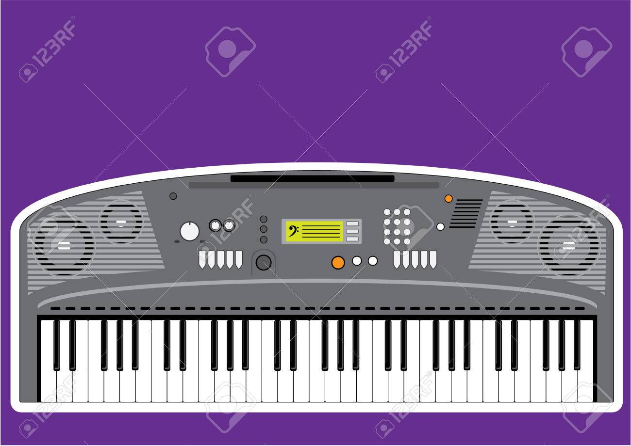 Music Keyboard Electric Piano Vector Illustration Stock