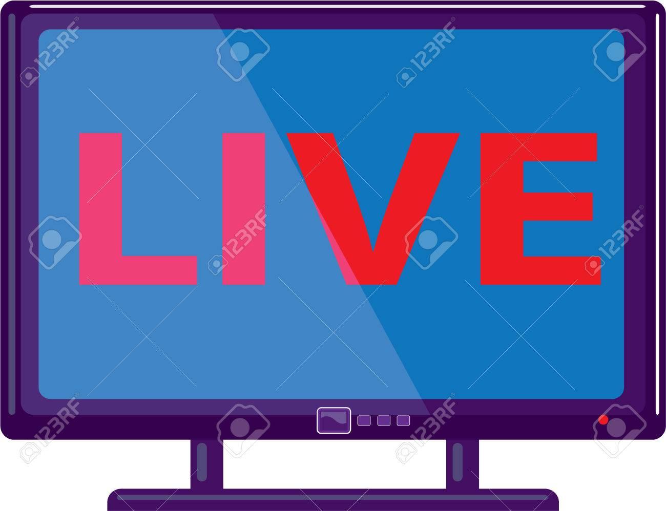 ライブ テレビ ベクトル アイコン イラスト クリップ アート イメージを