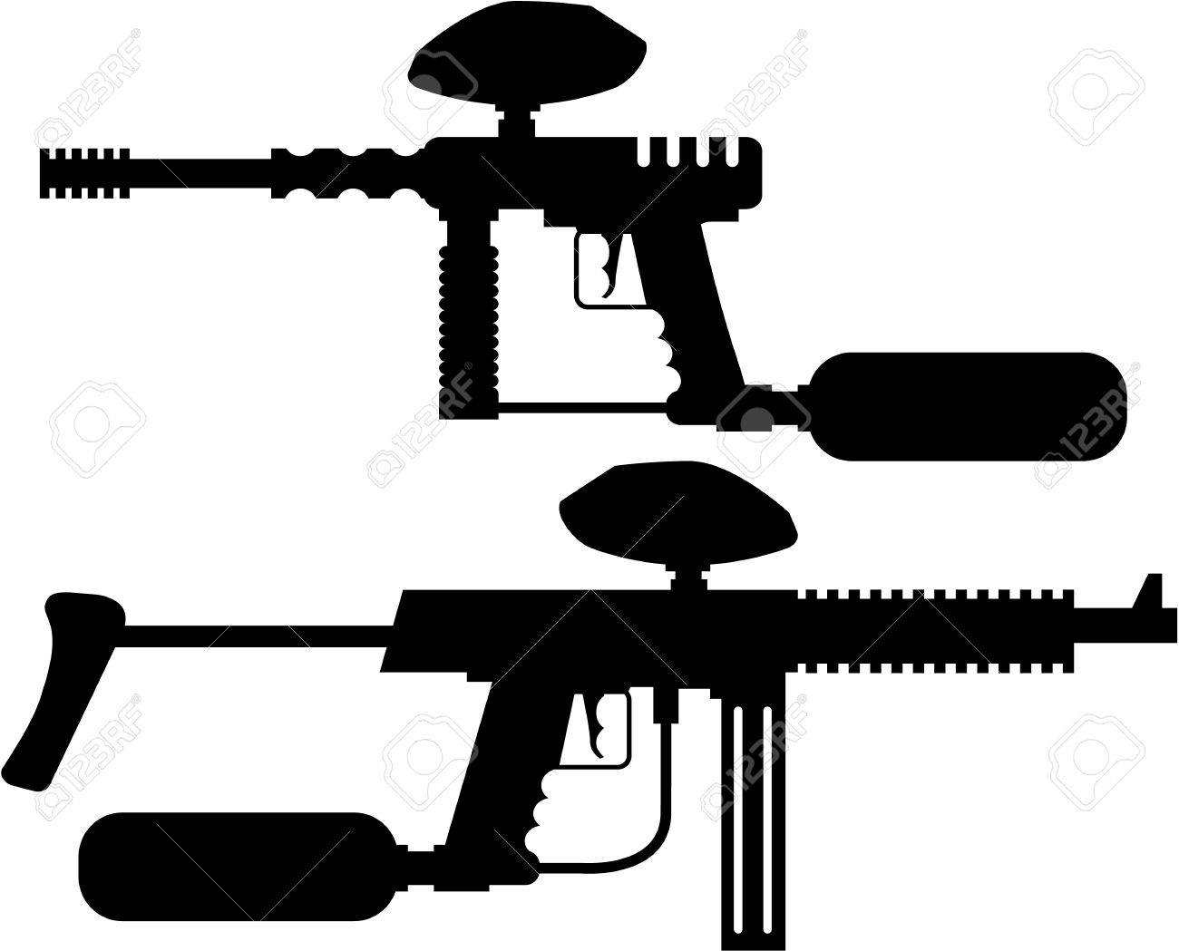 Paintball Gun Illustration Clip Art Image Royalty Free Cliparts Vectors And Stock Illustration Image 67756789
