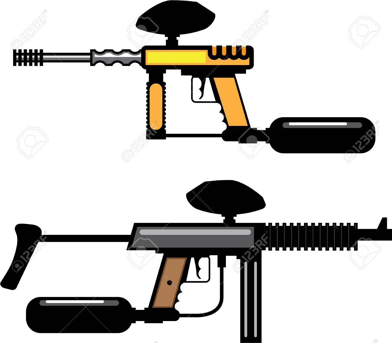 paintball gun color illustration clip art simple image royalty free rh 123rf com paintball splat clipart paintball clipart black