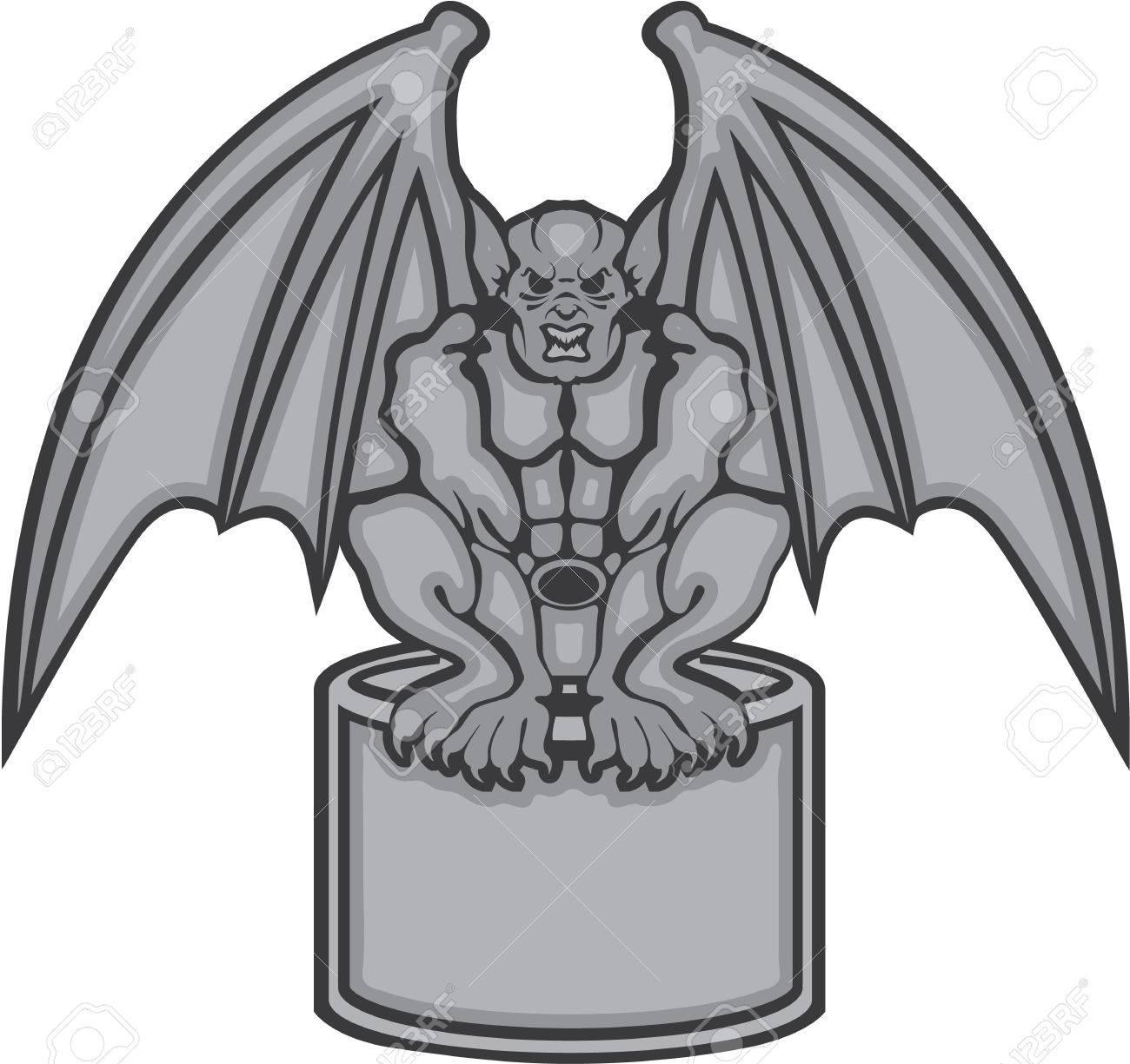 gargoyle stone statue vector illustration clip art royalty free rh 123rf com