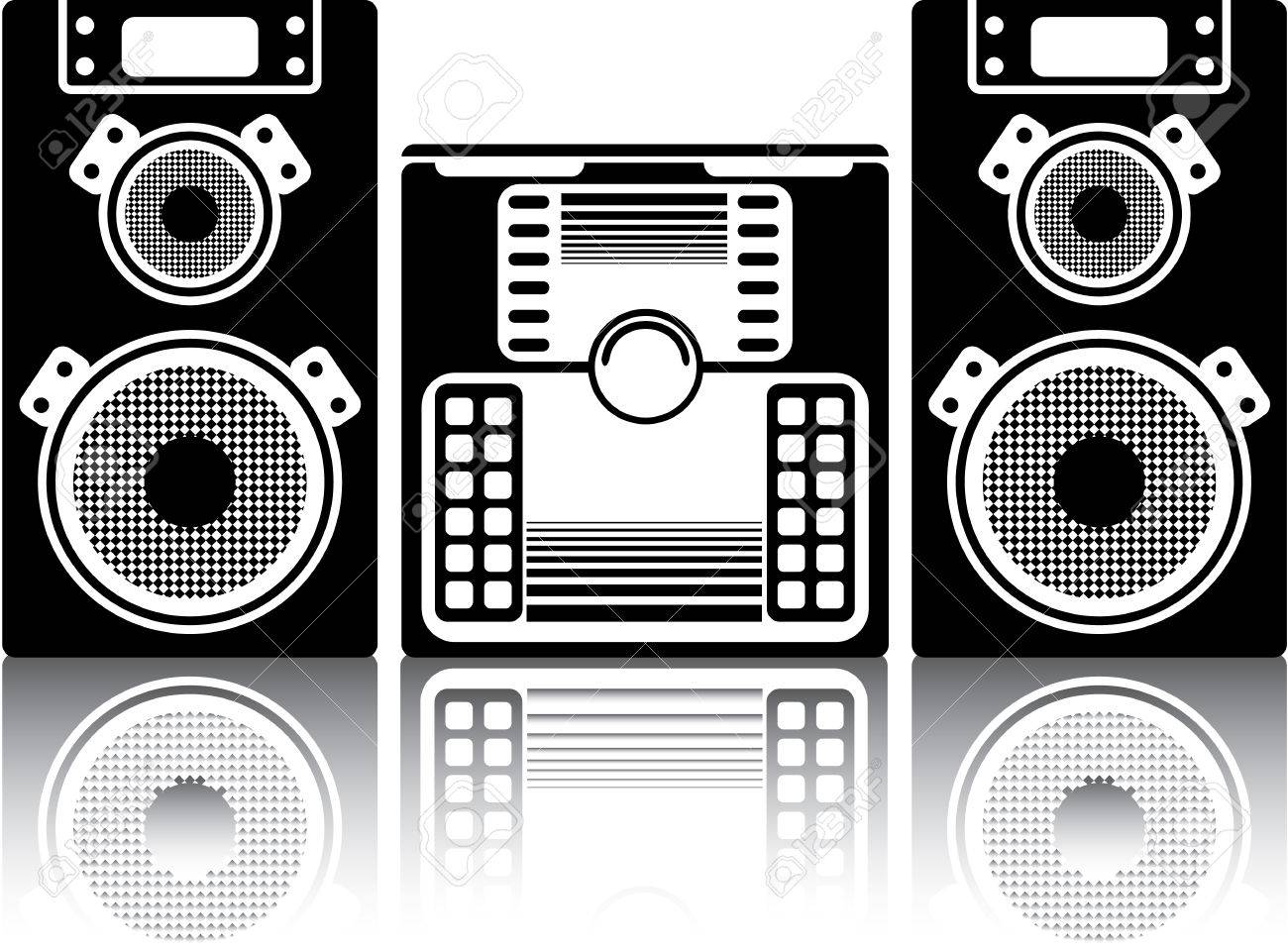 Boombox Stereo System Vector Image Clip Art Royalty Free Cliparts Vectors And Stock Illustration Image 68044058