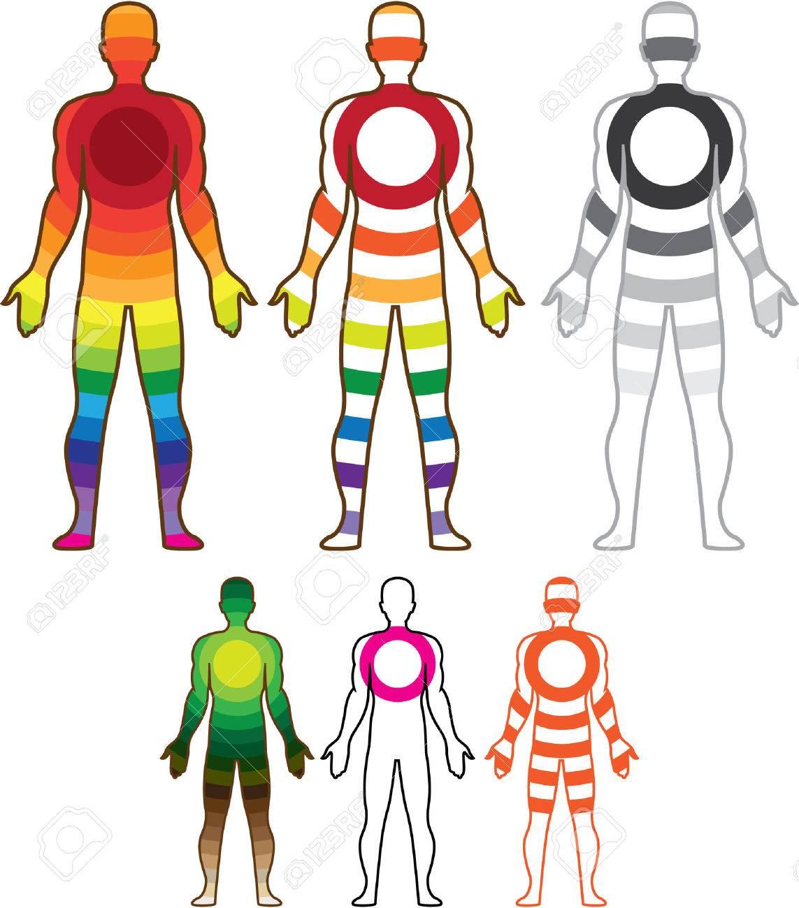 人間の身体共鳴ベクトル イラスト クリップ アート イメージ