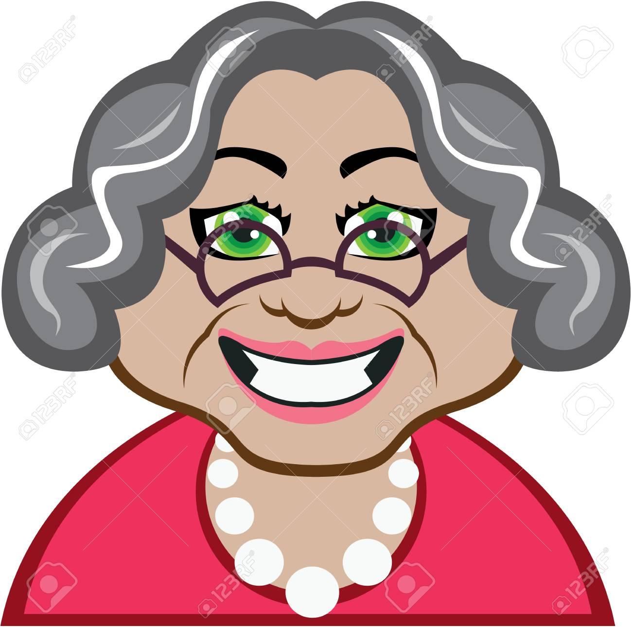 おばあちゃんベクトル イラスト クリップ アート イメージ