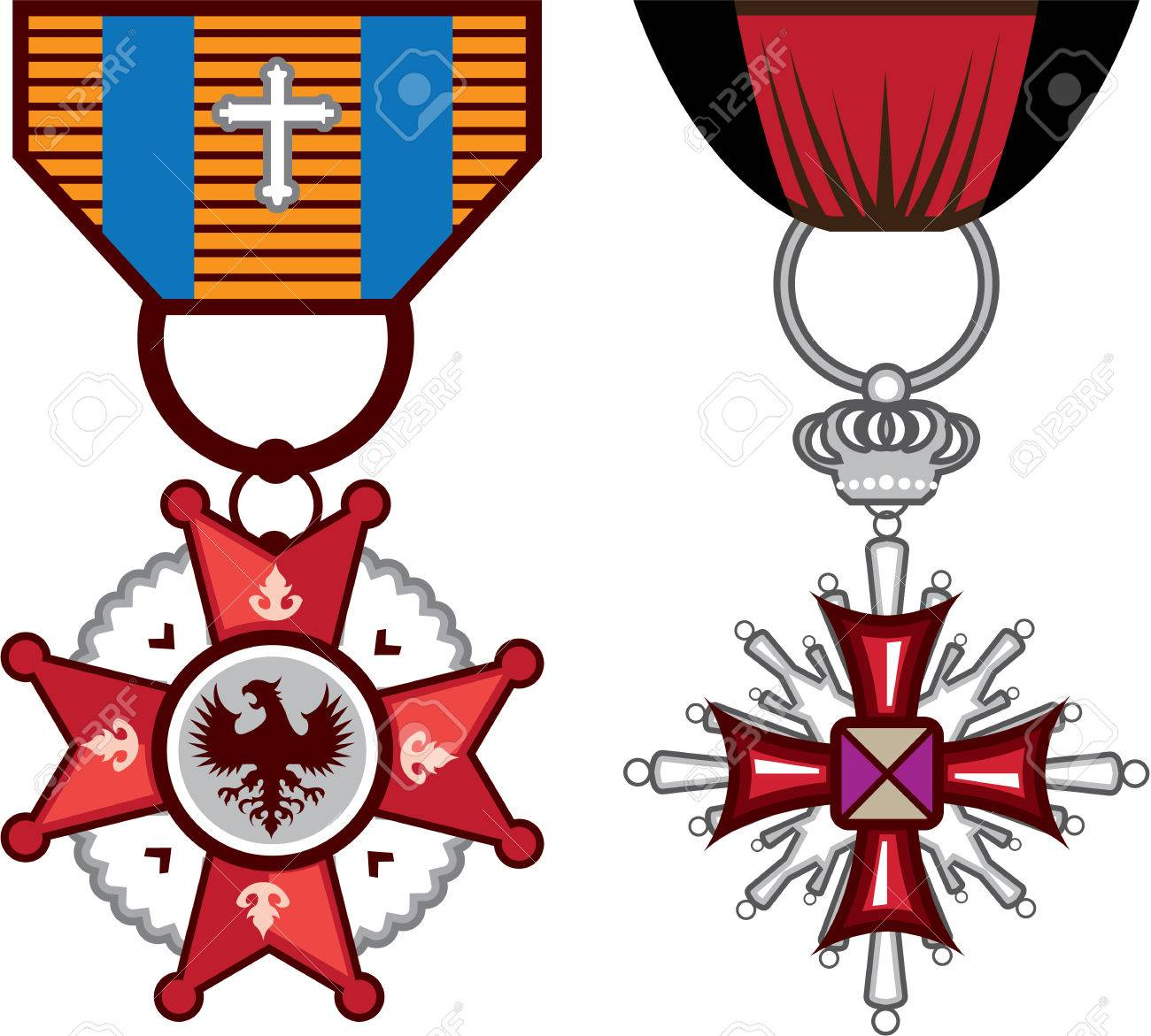 military medals vector illustration clip art image royalty free rh 123rf com military clipart terms and graphics military clip art graphics