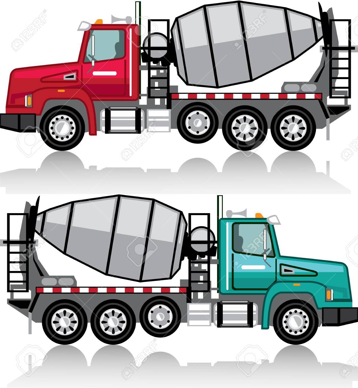 cement mixer vector illustration clip art image file royalty free rh 123rf com concrete clipart free clipart concrete truck