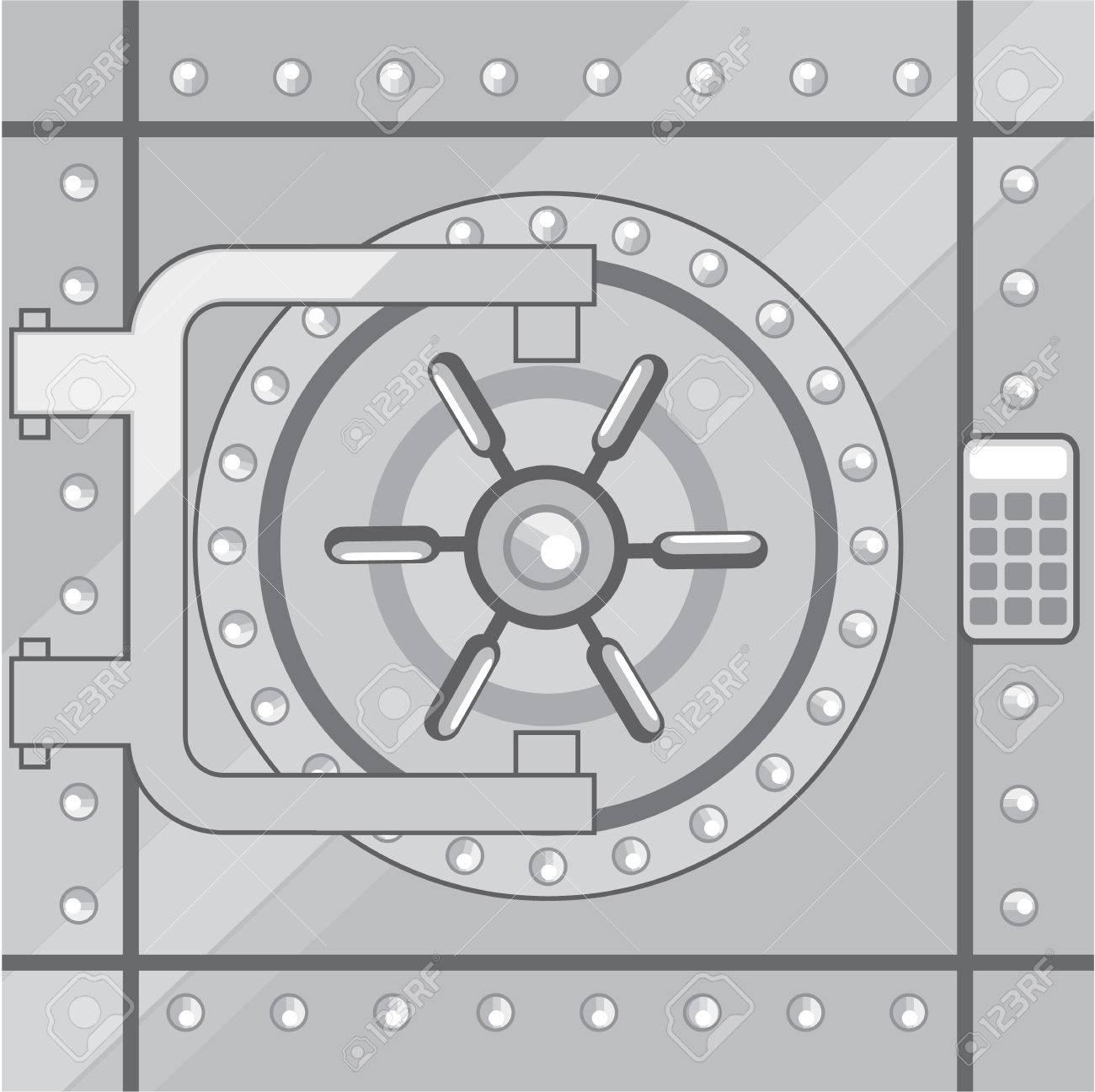 Vault metal safe door vector illustration clip-art image Stock Vector - 69440684  sc 1 st  123RF.com & Vault Metal Safe Door Vector Illustration Clip-art Image Royalty ...