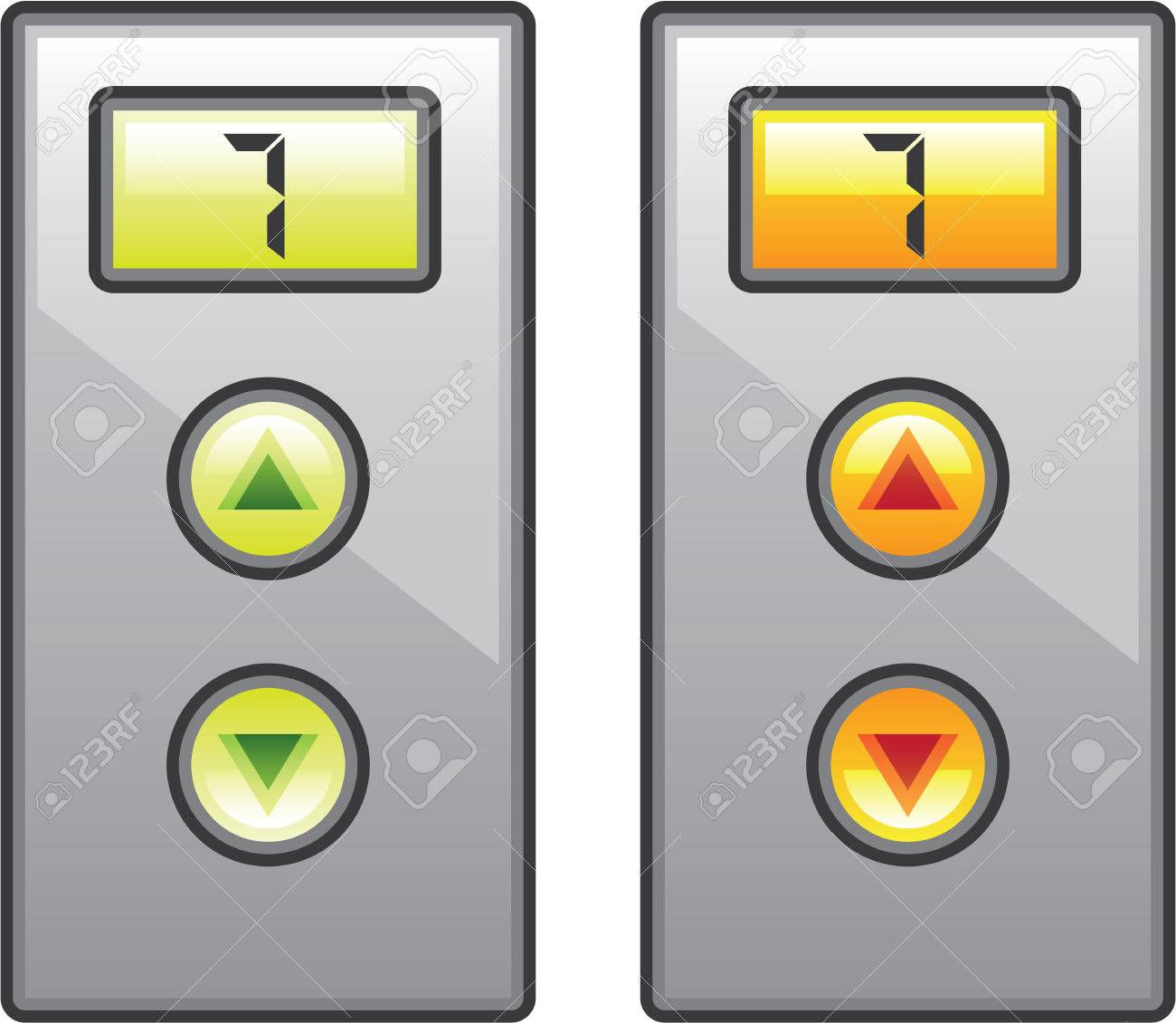 elevator buttons vector illustration clip art image royalty free rh 123rf com
