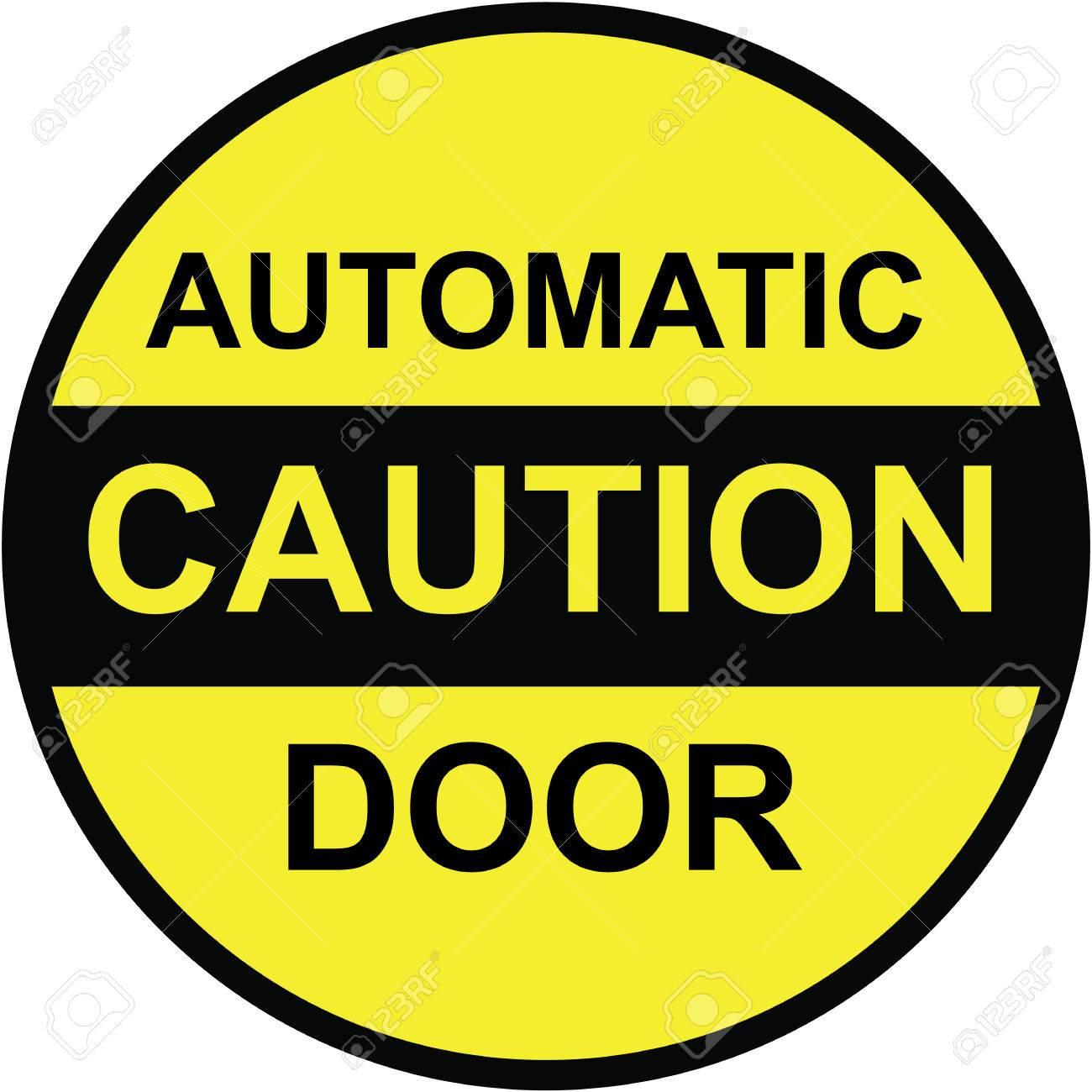 Vorsicht Automatische Tür Vektor Zeichen Clip-Art Lizenzfrei ...