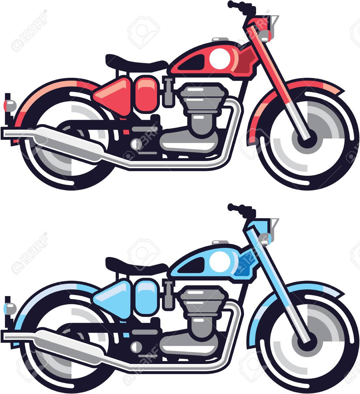 Vintage Motorcycle Vector Stylized Illustration Clip Art Image Royalty Free Cliparts Vectors And Stock Illustration Image 69650830