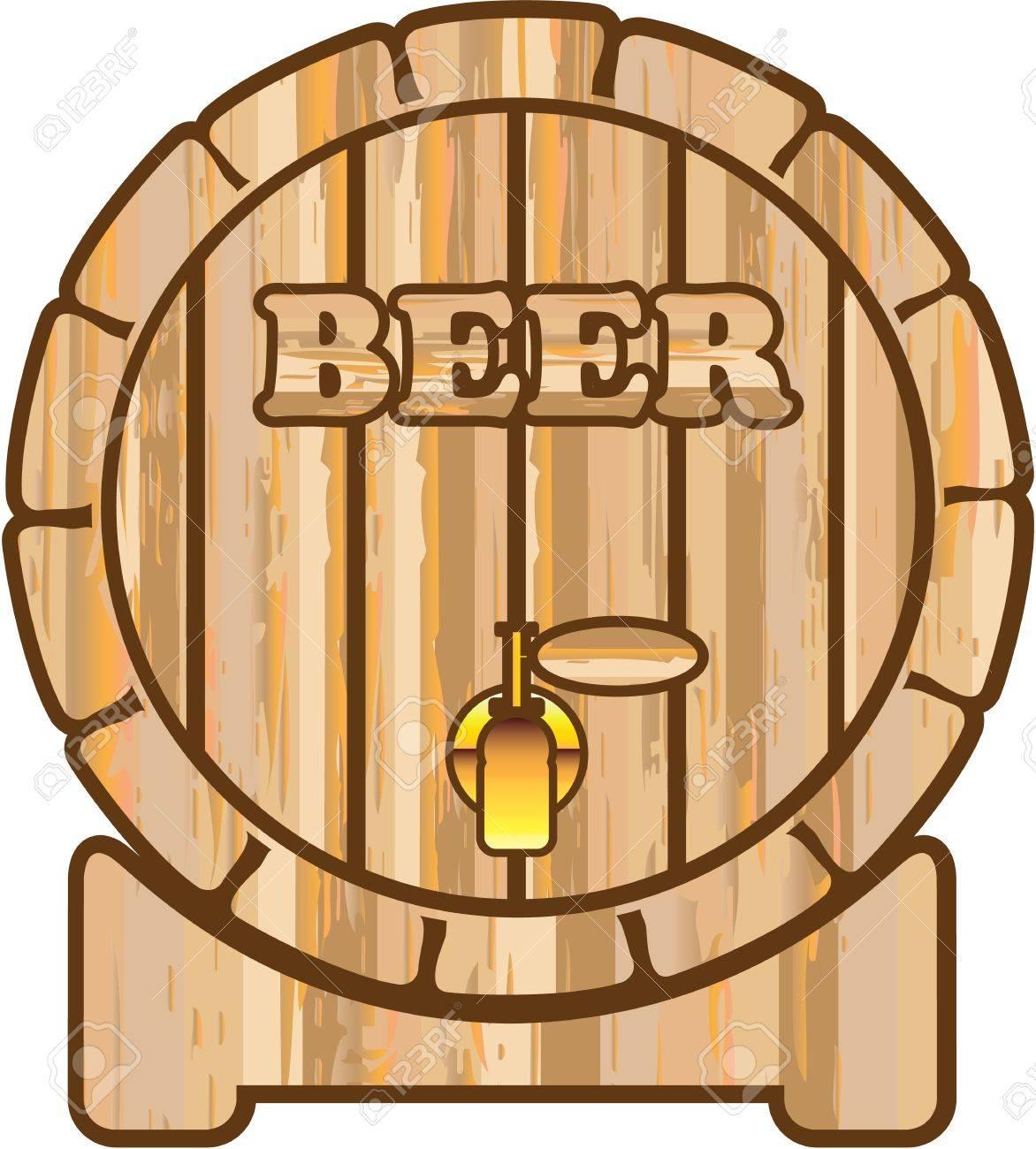 beer barrel wooden illustration clip art image royalty free cliparts rh 123rf com oil barrel clip art oil barrel clip art