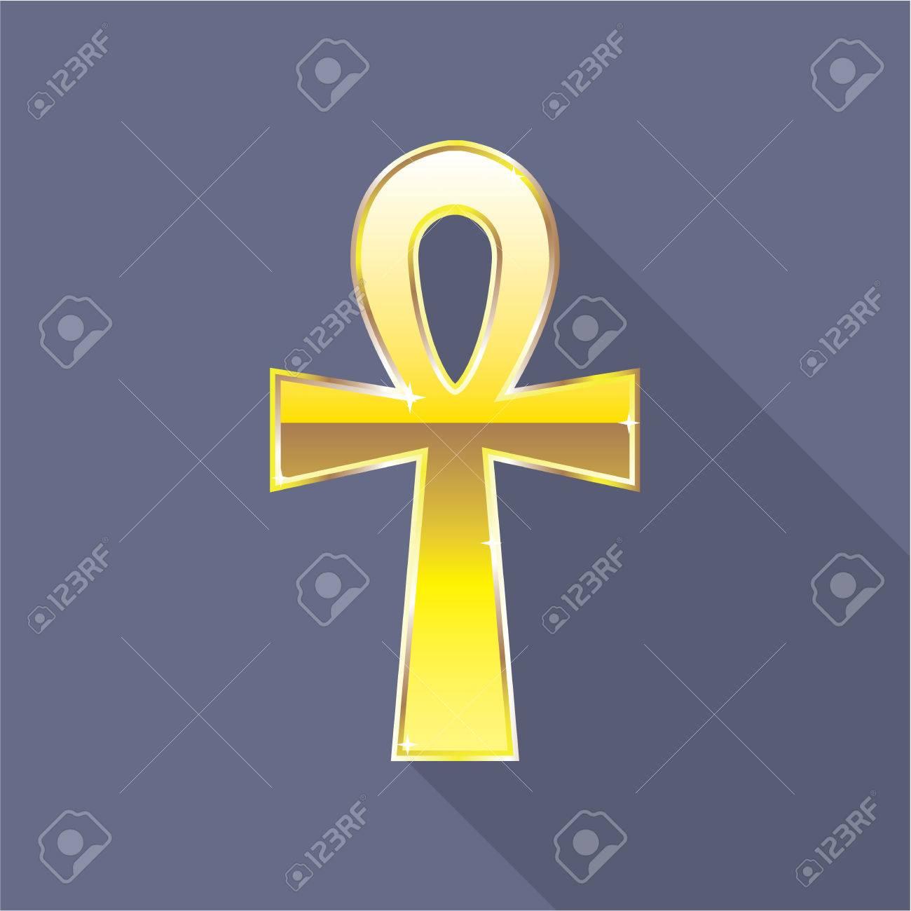 Egyptian cross key of nile ankh gold vector illustration clip art egyptian cross key of nile ankh gold vector illustration clip art stock vector 69556862 buycottarizona Image collections