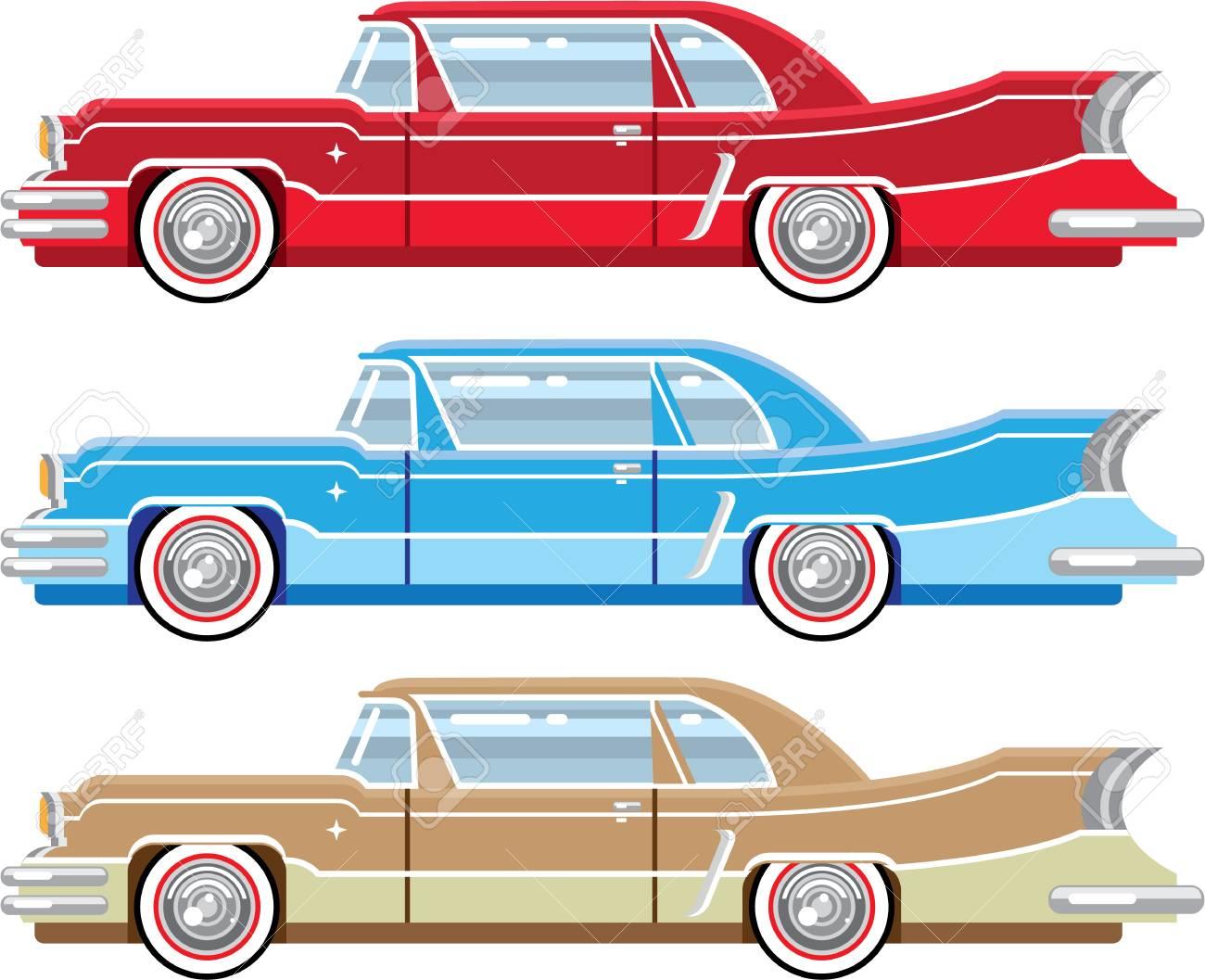 ビンテージ クラシックカー ベクトル イラスト クリップ アート イメージ