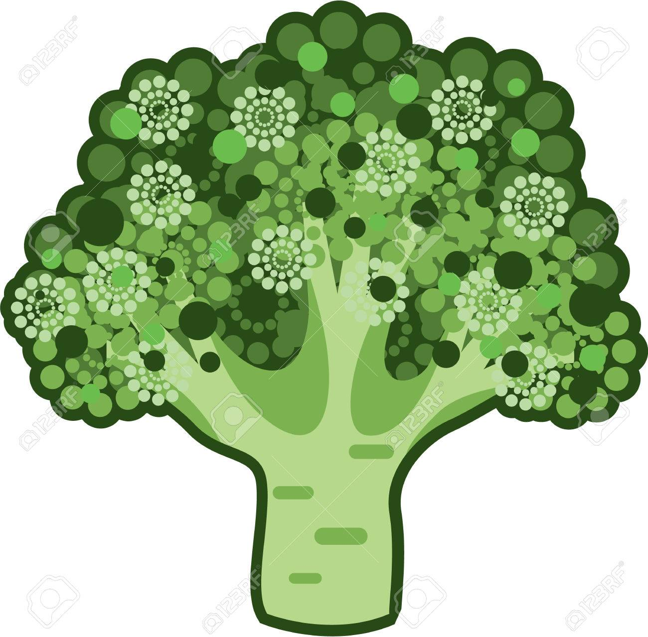 Get Broccoli Vector Art
