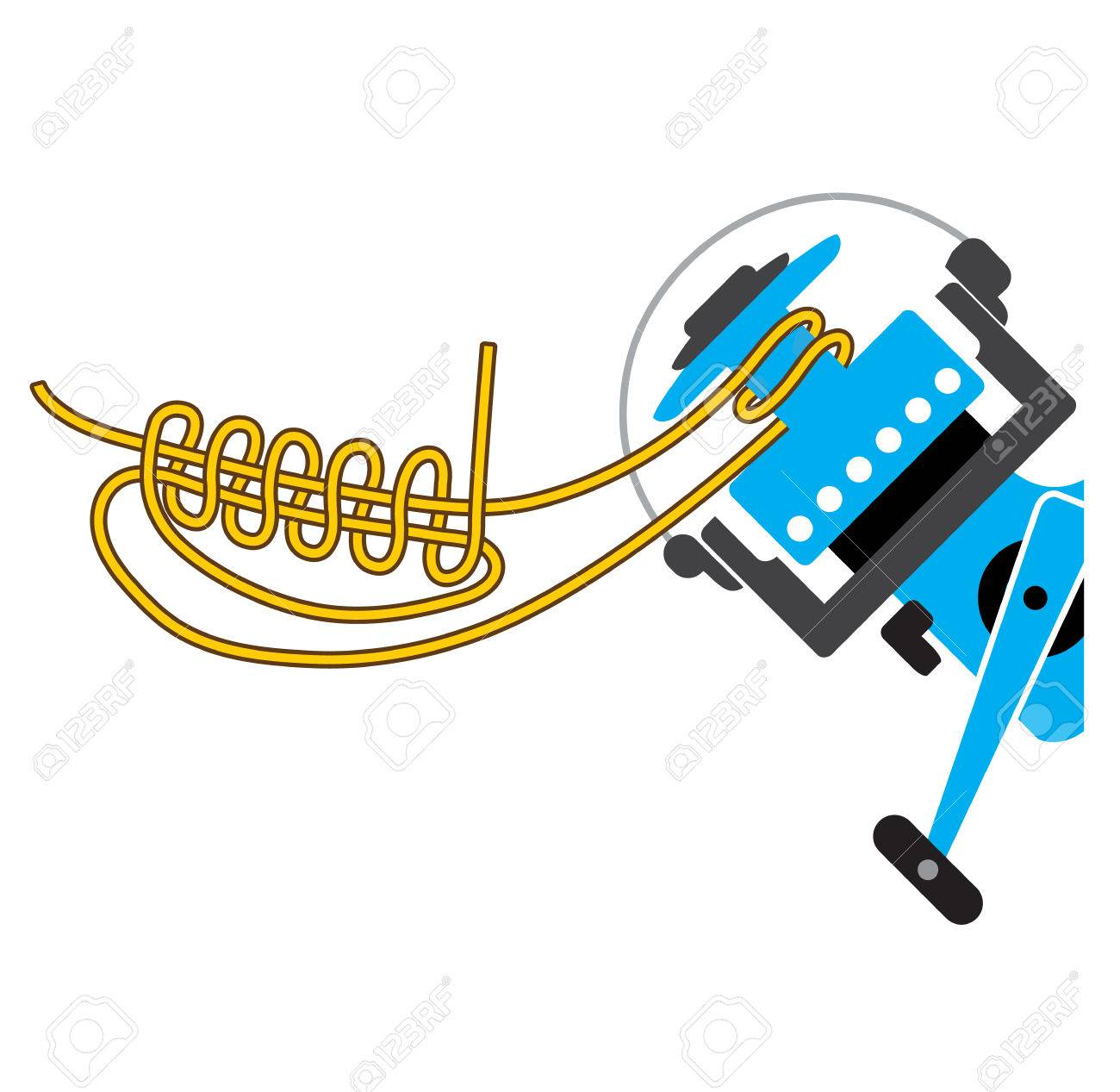 Spool Uni Knot For Spinning Reel Vector Diagram Not Marked Royalty Fishing Knots Diagrams Stock 68044507