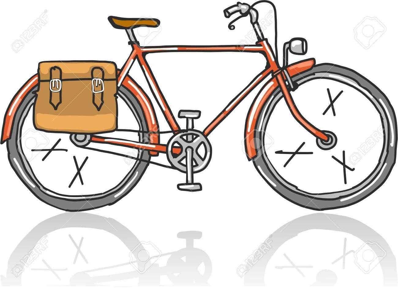 Old School Velo Croquis Vector Illustration Clipart Image Clip Art