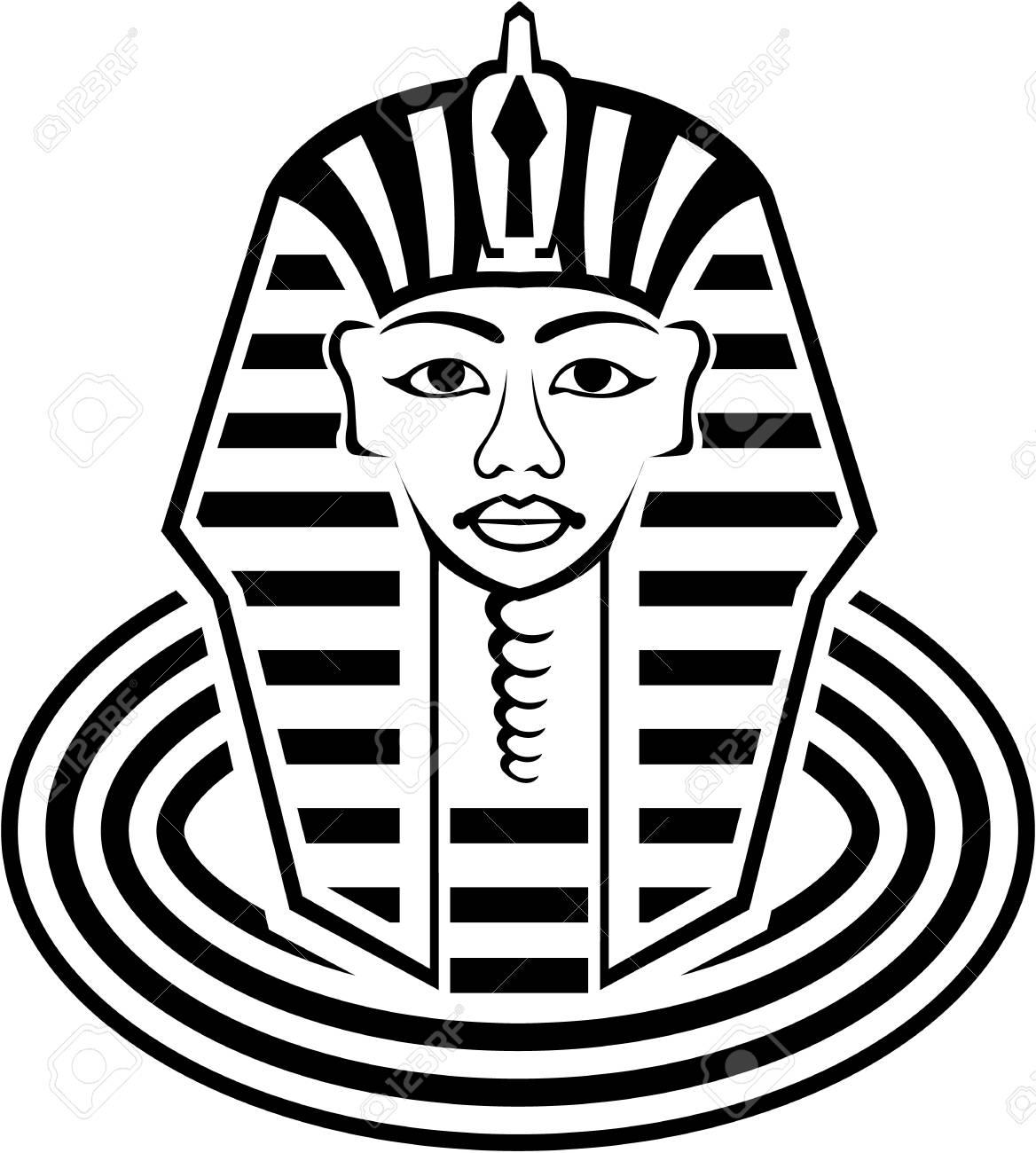 pharaoh illustration clip art image esp file stock photo picture rh 123rf com pharaoh head clipart pharaoh headdress clipart