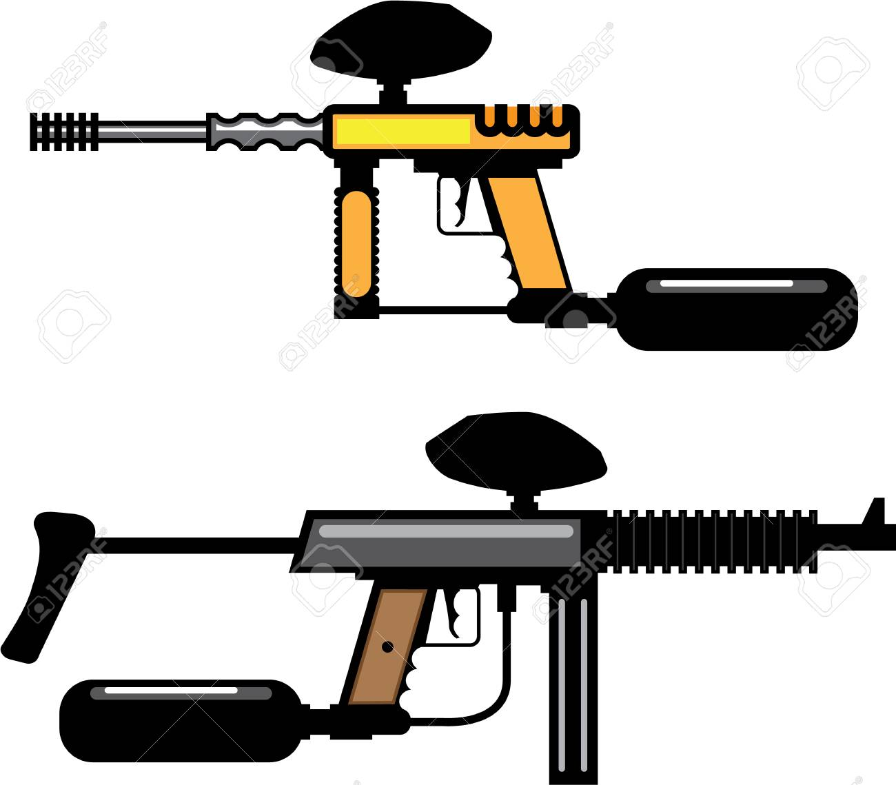 Paintball Gun Color Illustration Clip Art Simple Image Stock Photo Picture And Royalty Free Image Image 88289072