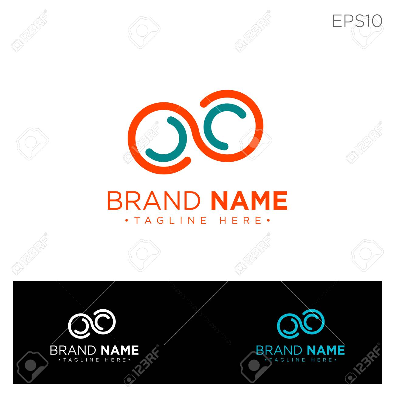 Infinity Monogram Initial C Cc C Logo Template Black Color Royalty Free Cliparts Vectors And Stock Illustration Image 123199686