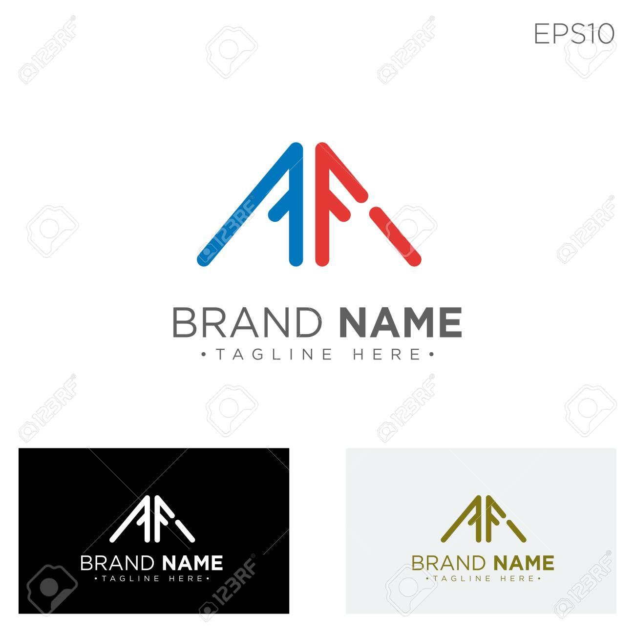 monogram initial af, af logo template black color vector illustration - vector - 123199235