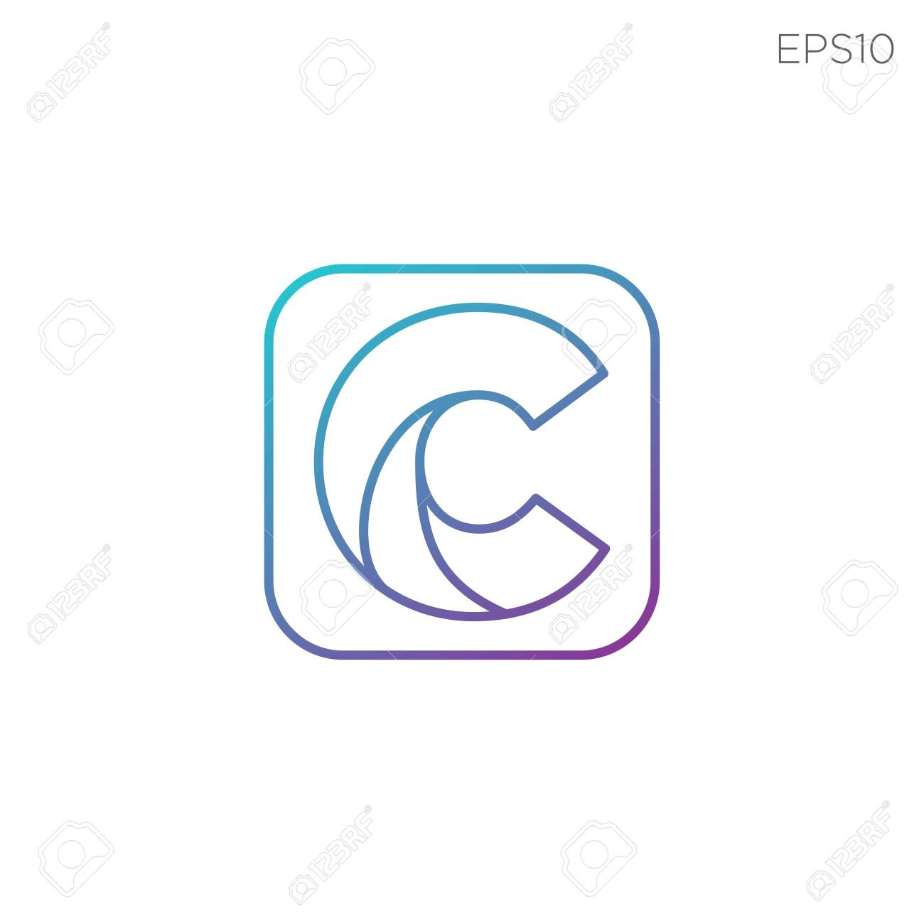 Monogram Initial C C Logo Template Black Color Vector Illustration Royalty Free Cliparts Vectors And Stock Illustration Image 123197944