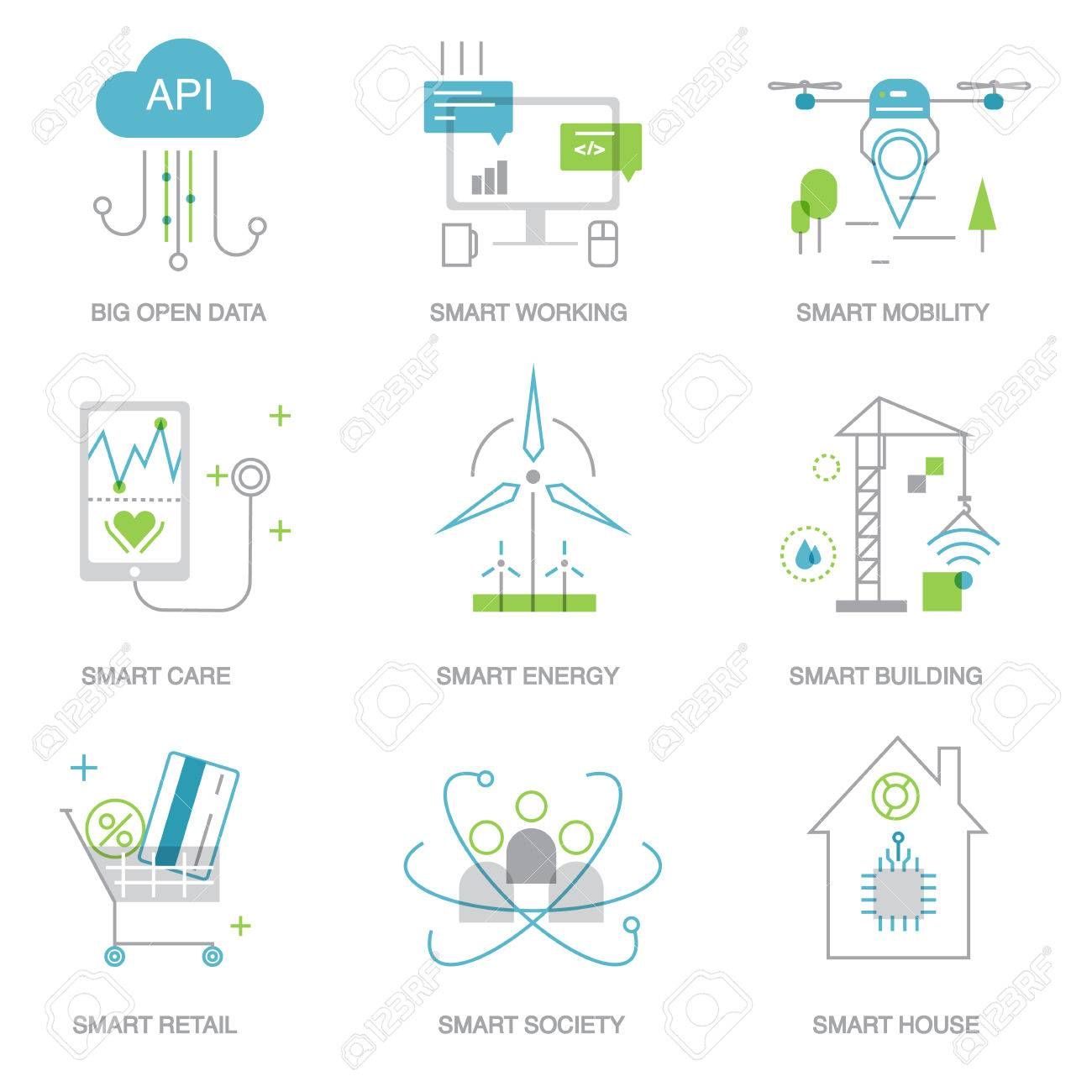 Future technology symbols for template, web - 51289417
