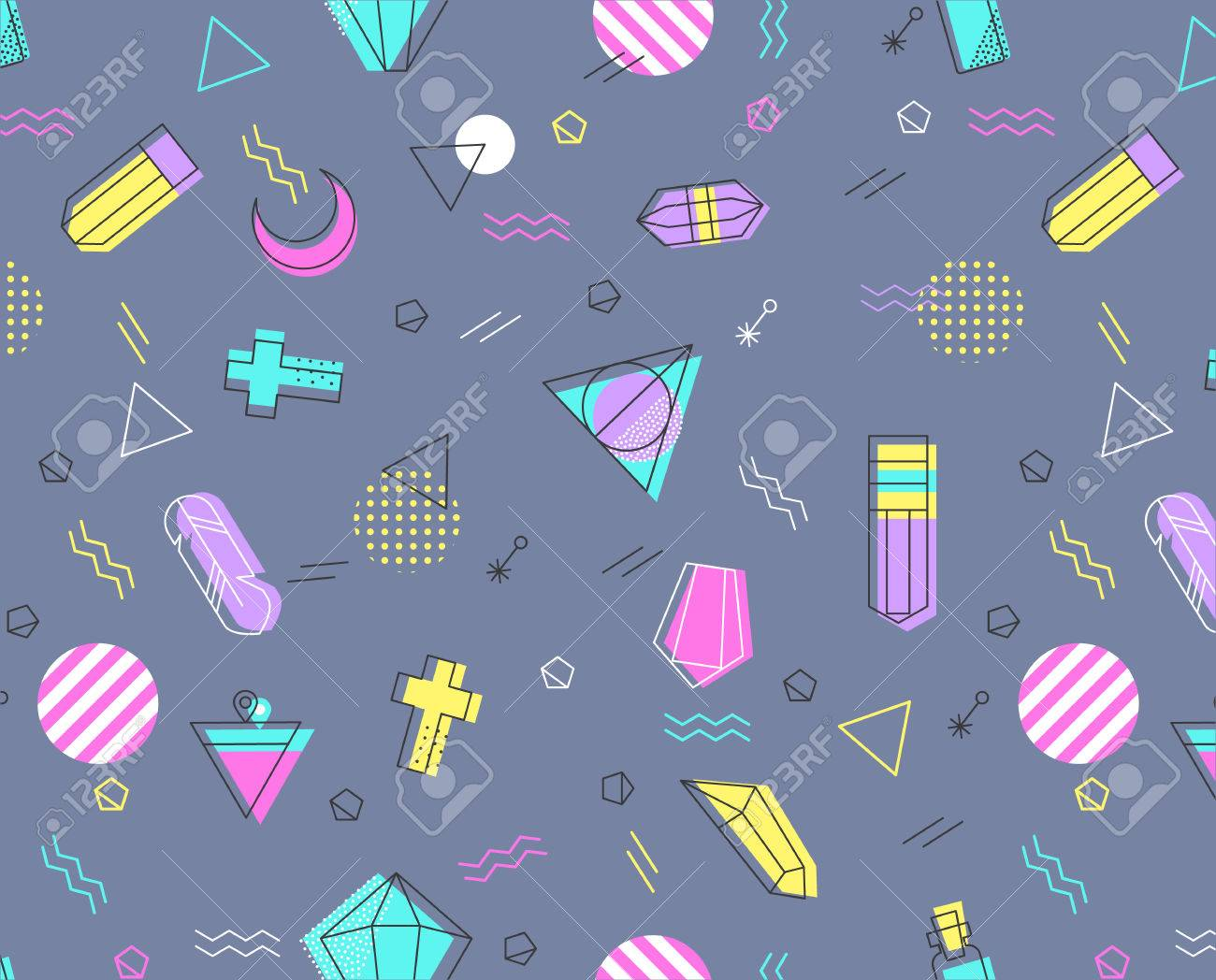 Retro 80's cover  For fabric, poster, business, wallpaper, phone