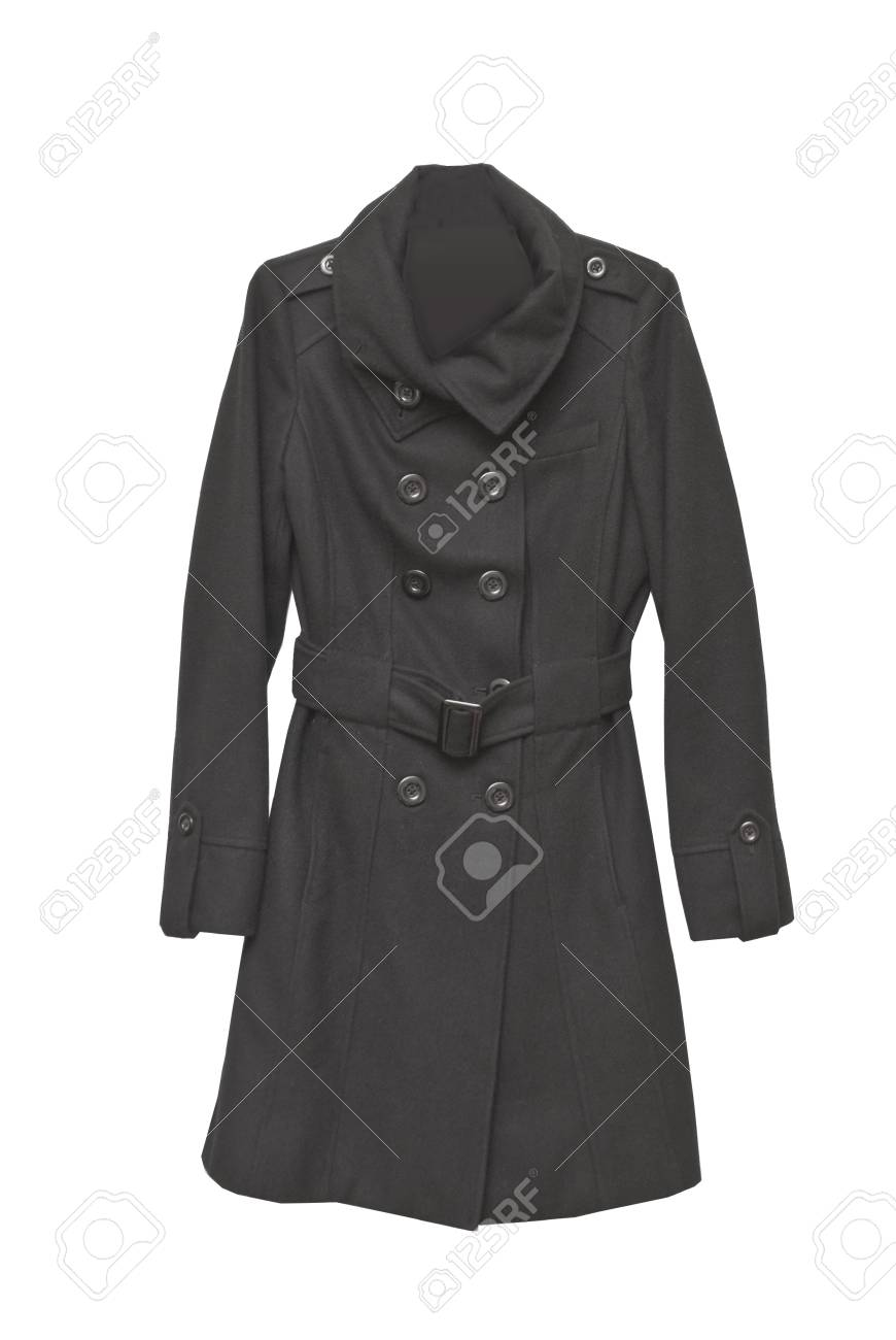 two slided cashmere coat with buttons Stock Photo - 16500374