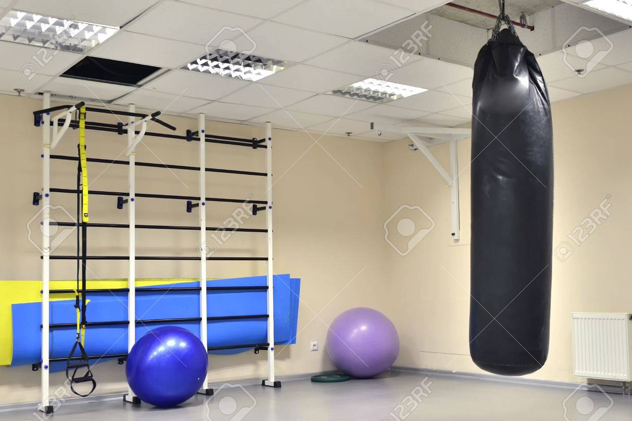 wall bars with fitness balls, gymnastic tape (trx) in Fitness Centre - 55080739