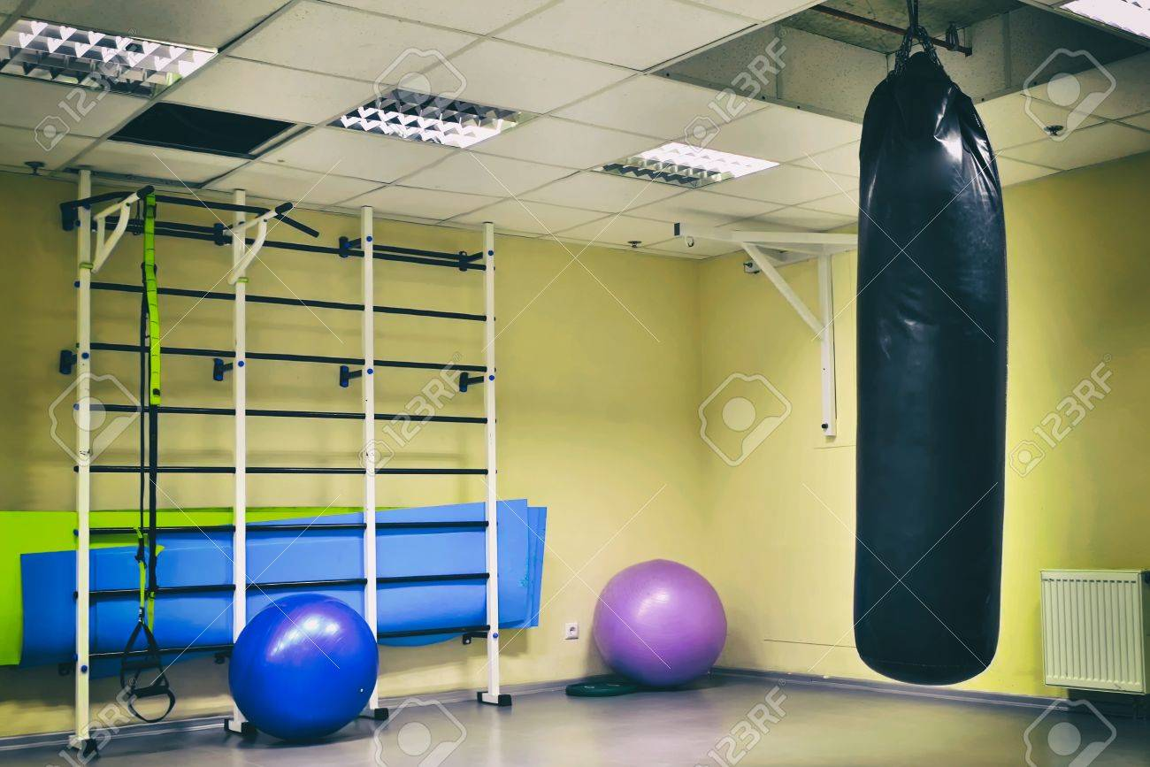 wall bars with fitness balls, gymnastic tape (trx) in Fitness Centre - 55080740