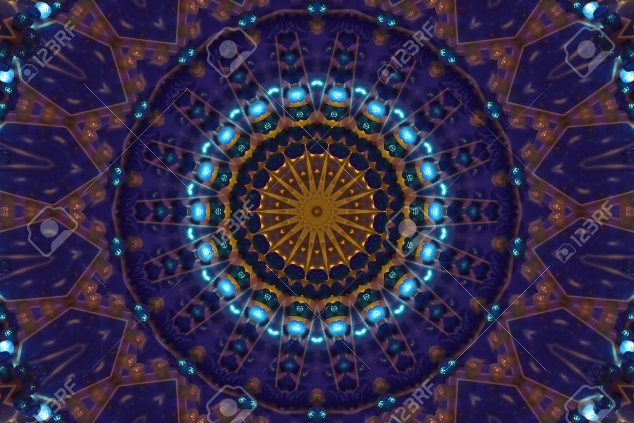 dark blue abstract kaleidoscope - 58901063