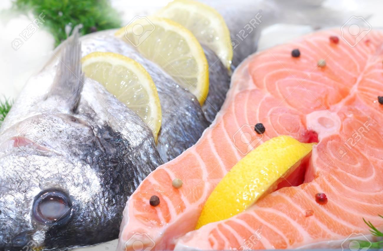 fillet salmon fish freezing - 58950163