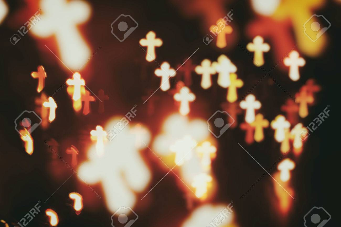 faith Christianity crosses abstract blur background - 59260525
