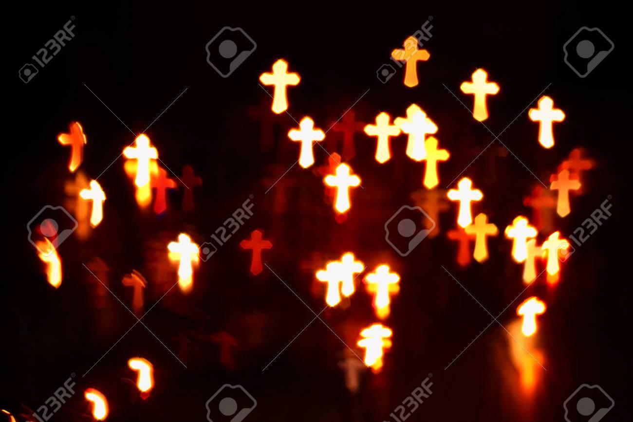 faith Christianity crosses abstract blur background - 59260526