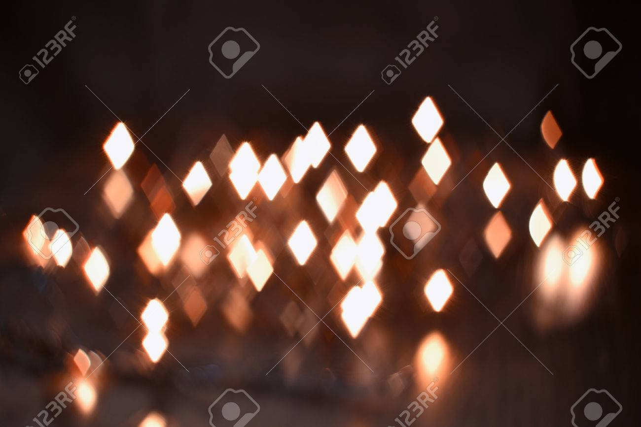 luminous rhombus flying in darkness abstract blur background - 59260531