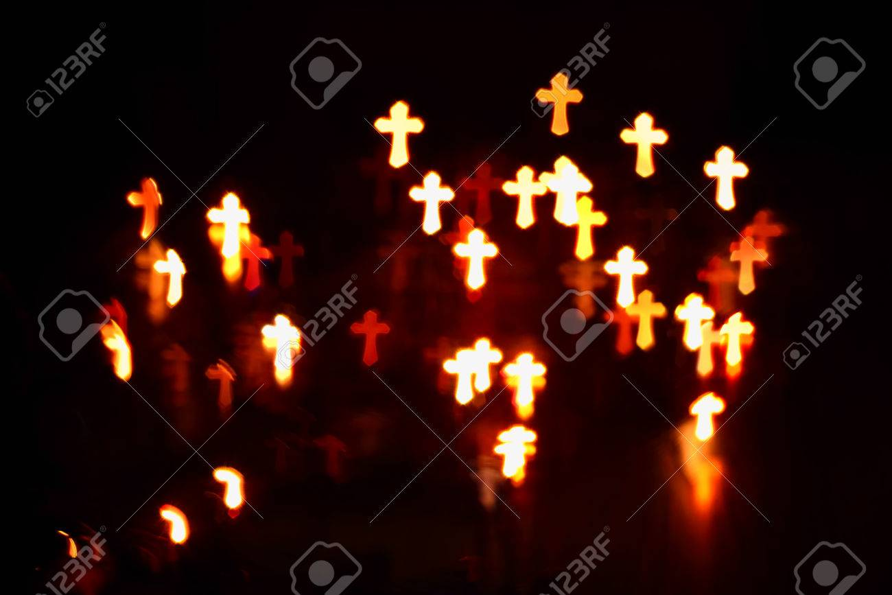 faith Christianity crosses abstract blur background - 59260539