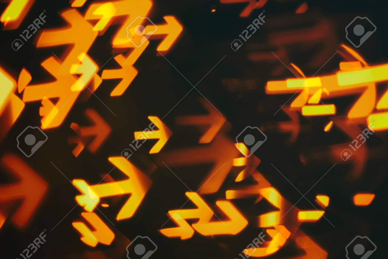 arrows shows way of direction to business goal (abstract blur background) - 59260424